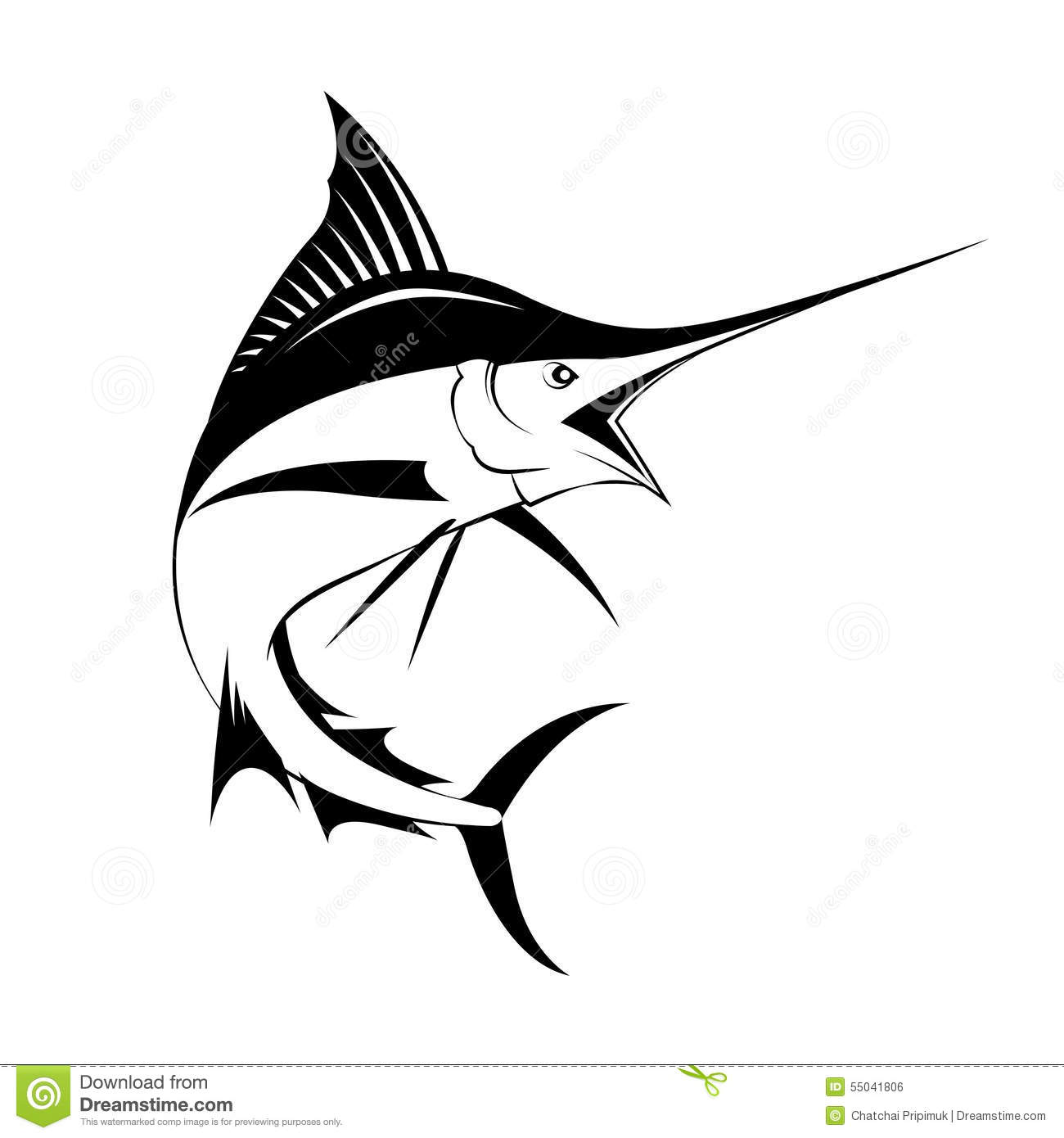 Marlin Fish, Vector Stock Vector - Image: 55041806