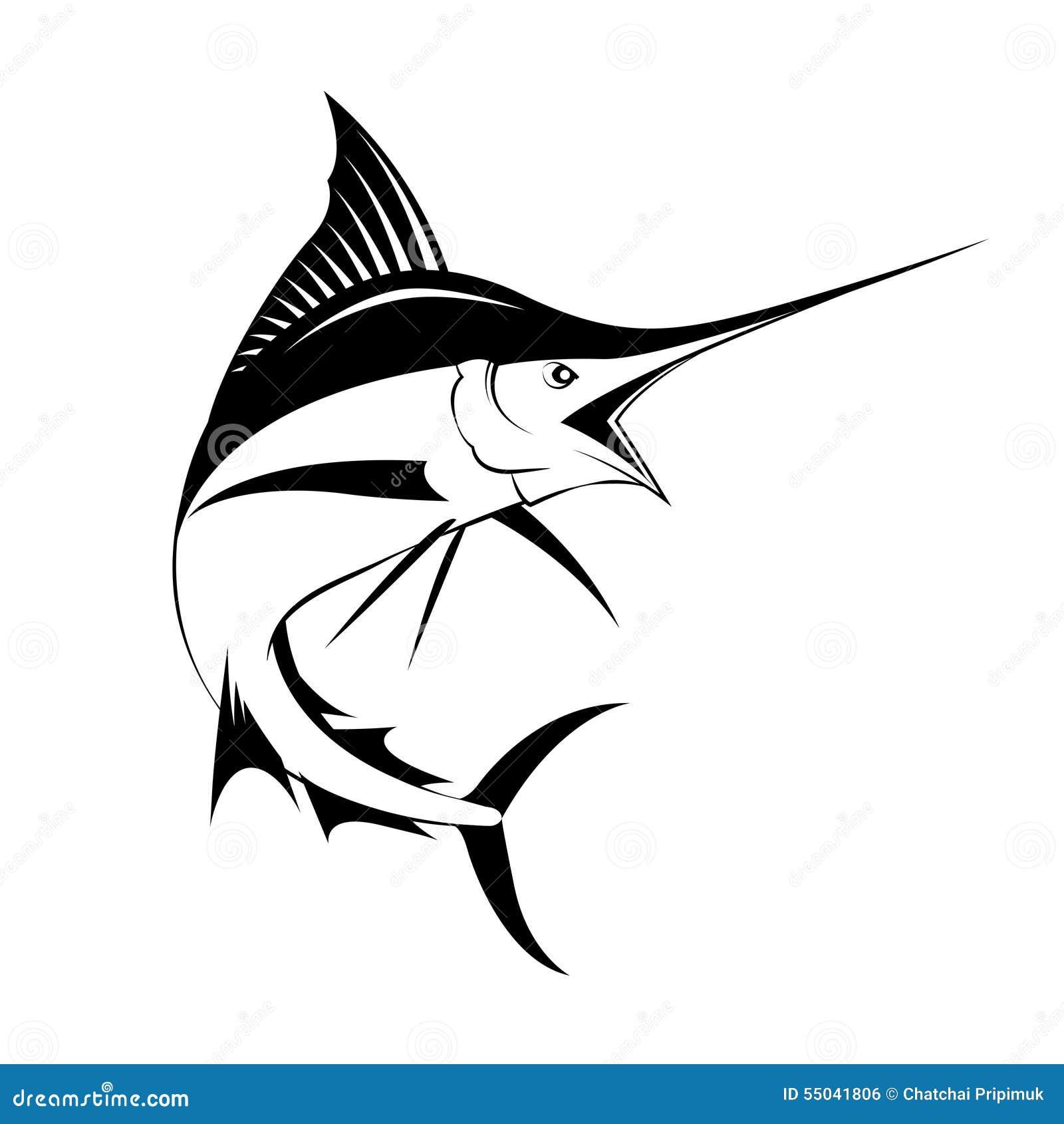 marlin fish  vector stock vector image 55041806 Animated Sailfish sailfish clipart black and white
