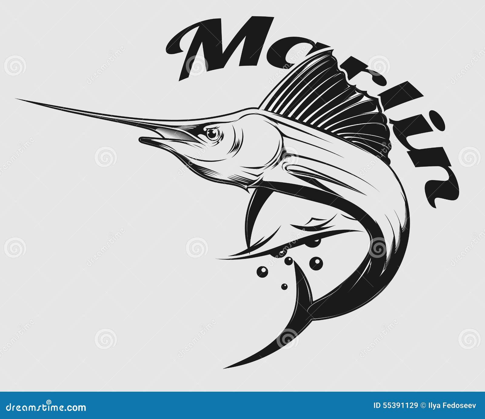 marlin logo stock vector image 55391129