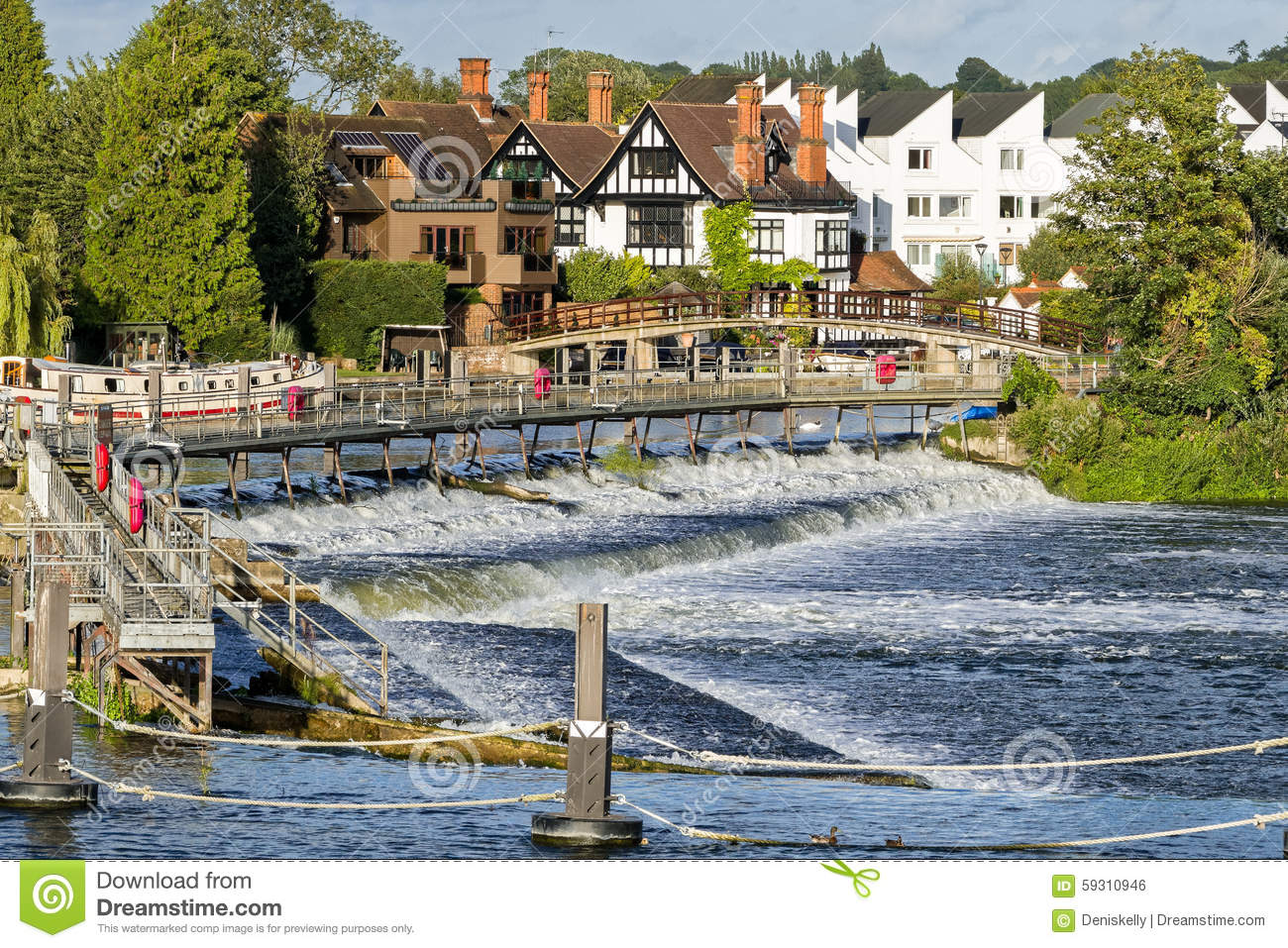 Marlow on the River Thames, England