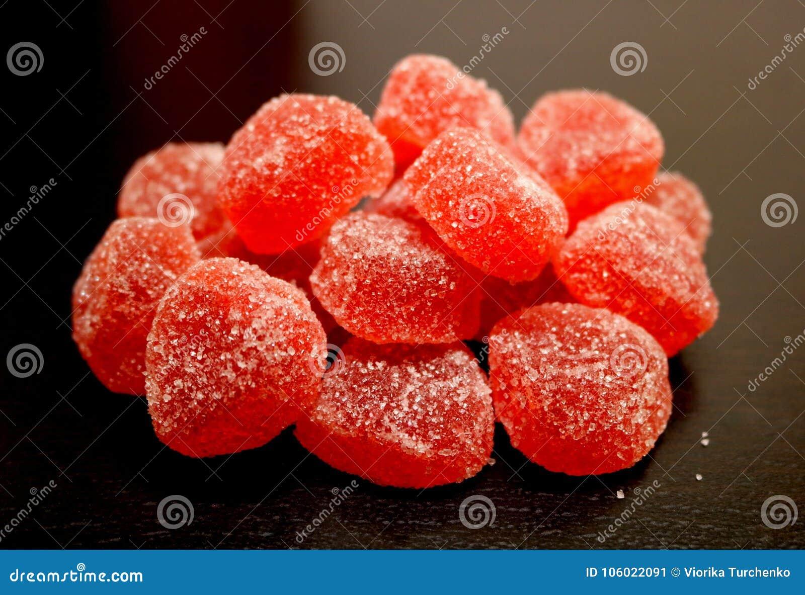 Marmalade Jujuba da morango Doce de fruta cor-de-rosa delicacy Doces do doce de fruta