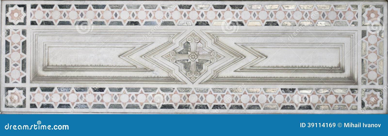 Marmeren Decoratie (het abstracte patroon van het sterelement)