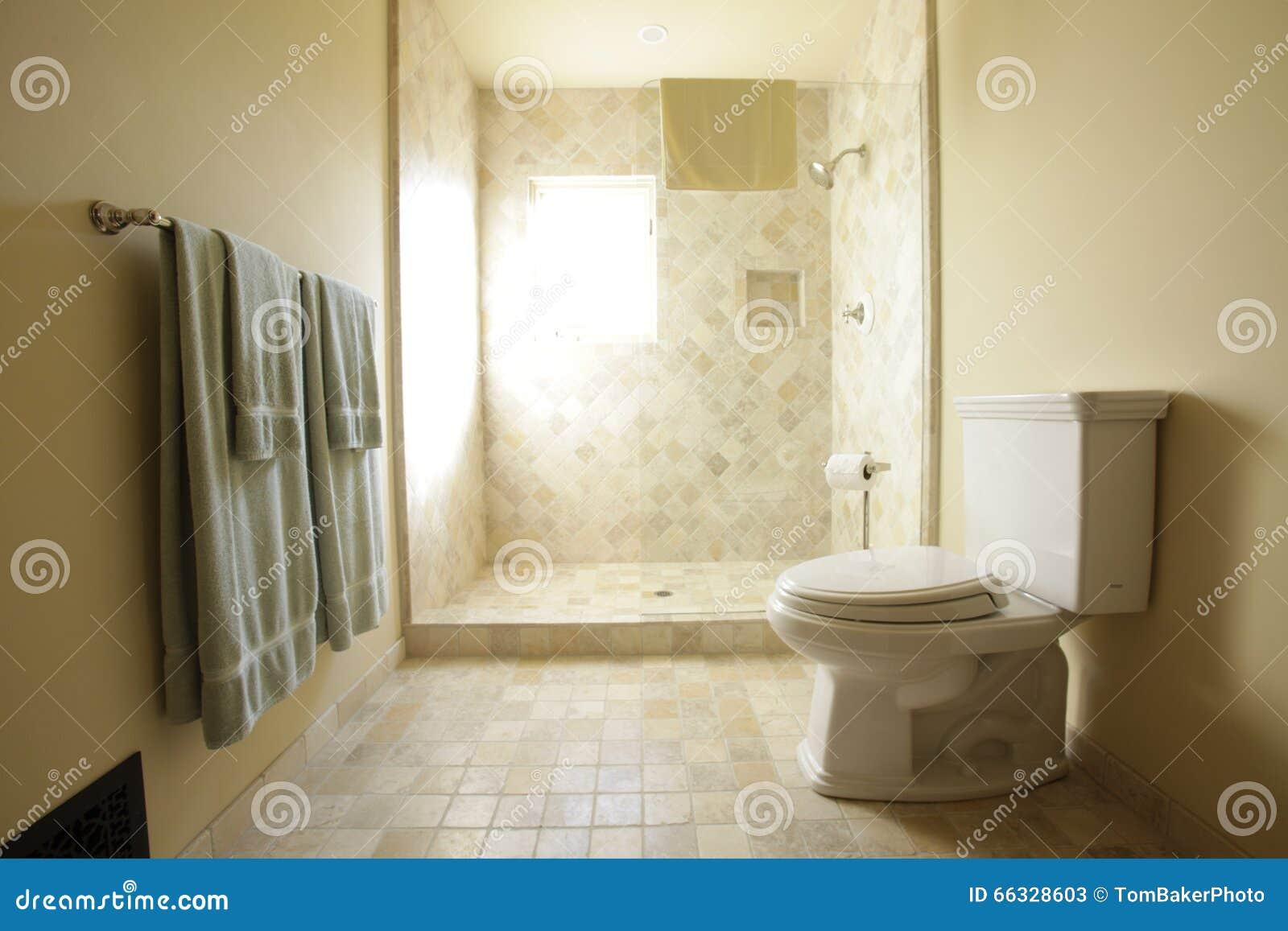 Marmeren douche in badkamers stock foto afbeelding 66328603 - Marmeren douche ...