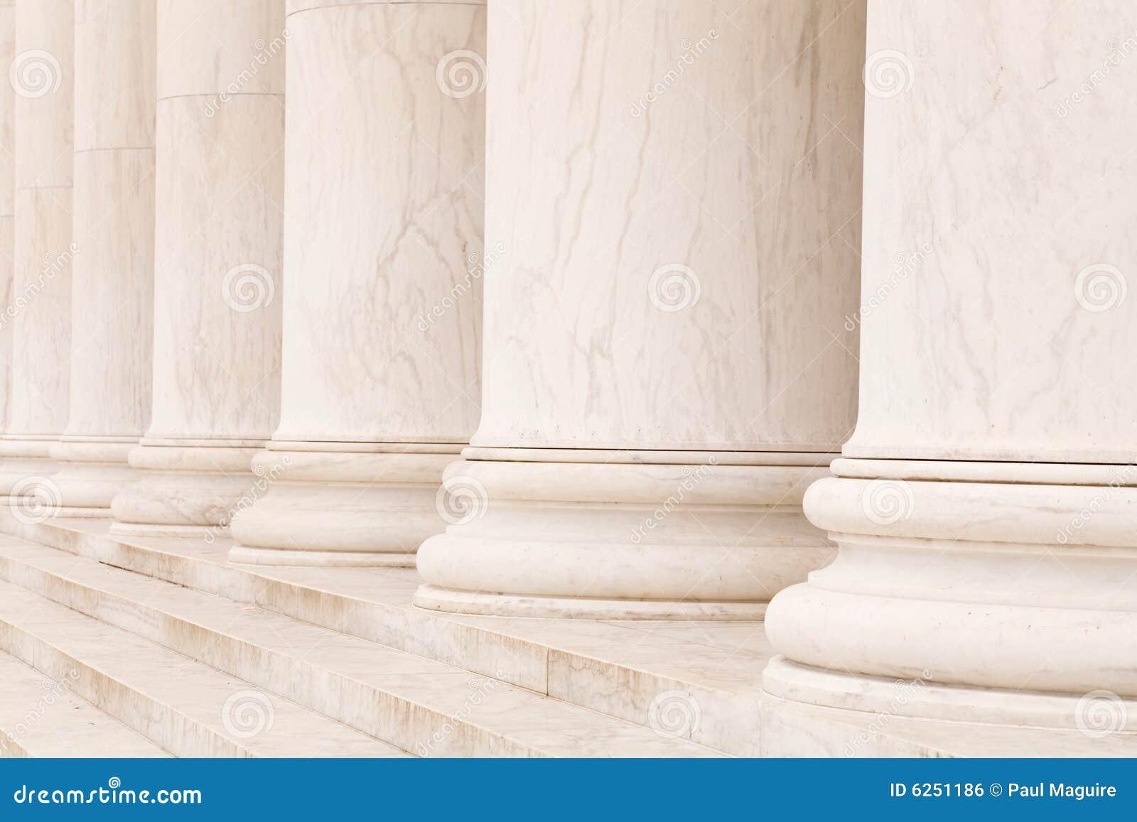 Marmeren kolommen