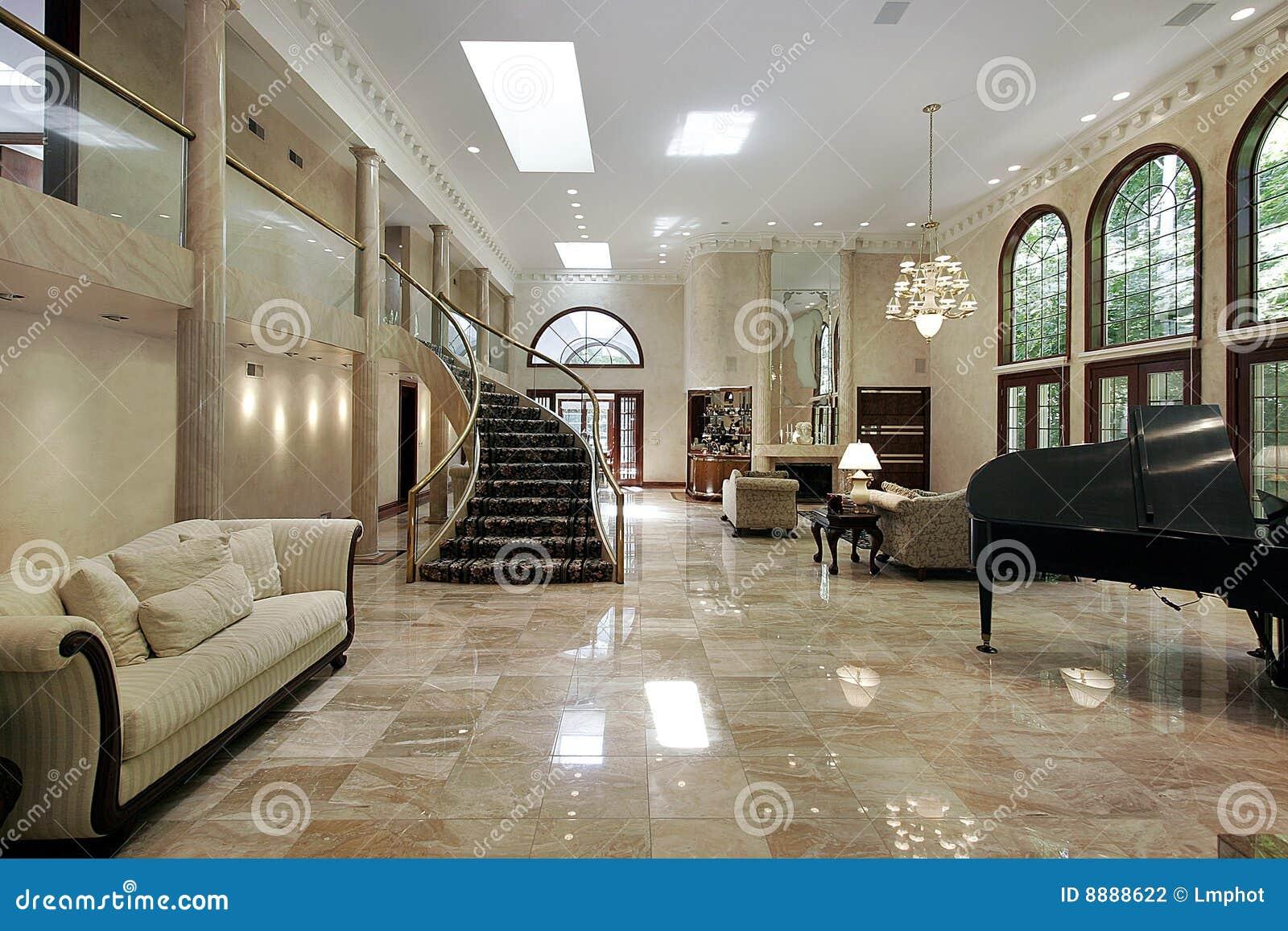 Marmeren woonkamer stock foto afbeelding bestaande uit architectuur 8888622 - Marmeren vloeren ...