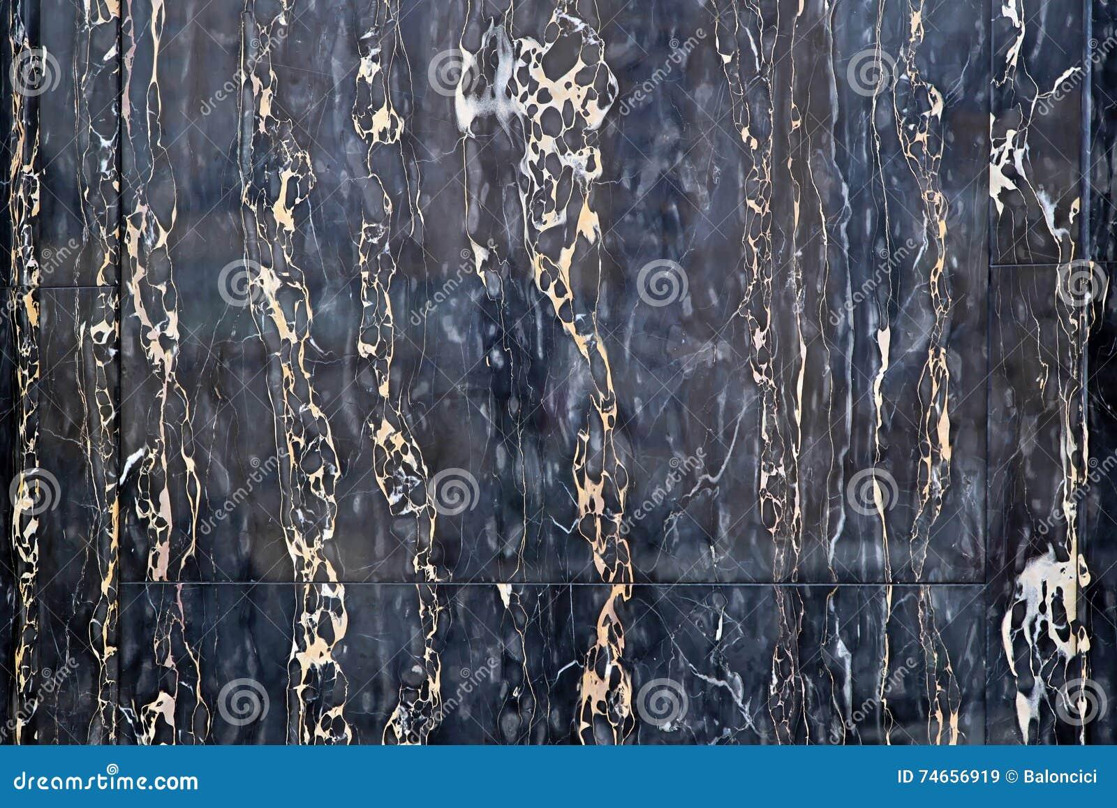 Marmo Nero Con Oro Immagine Stock Immagine Di Venato 74656919