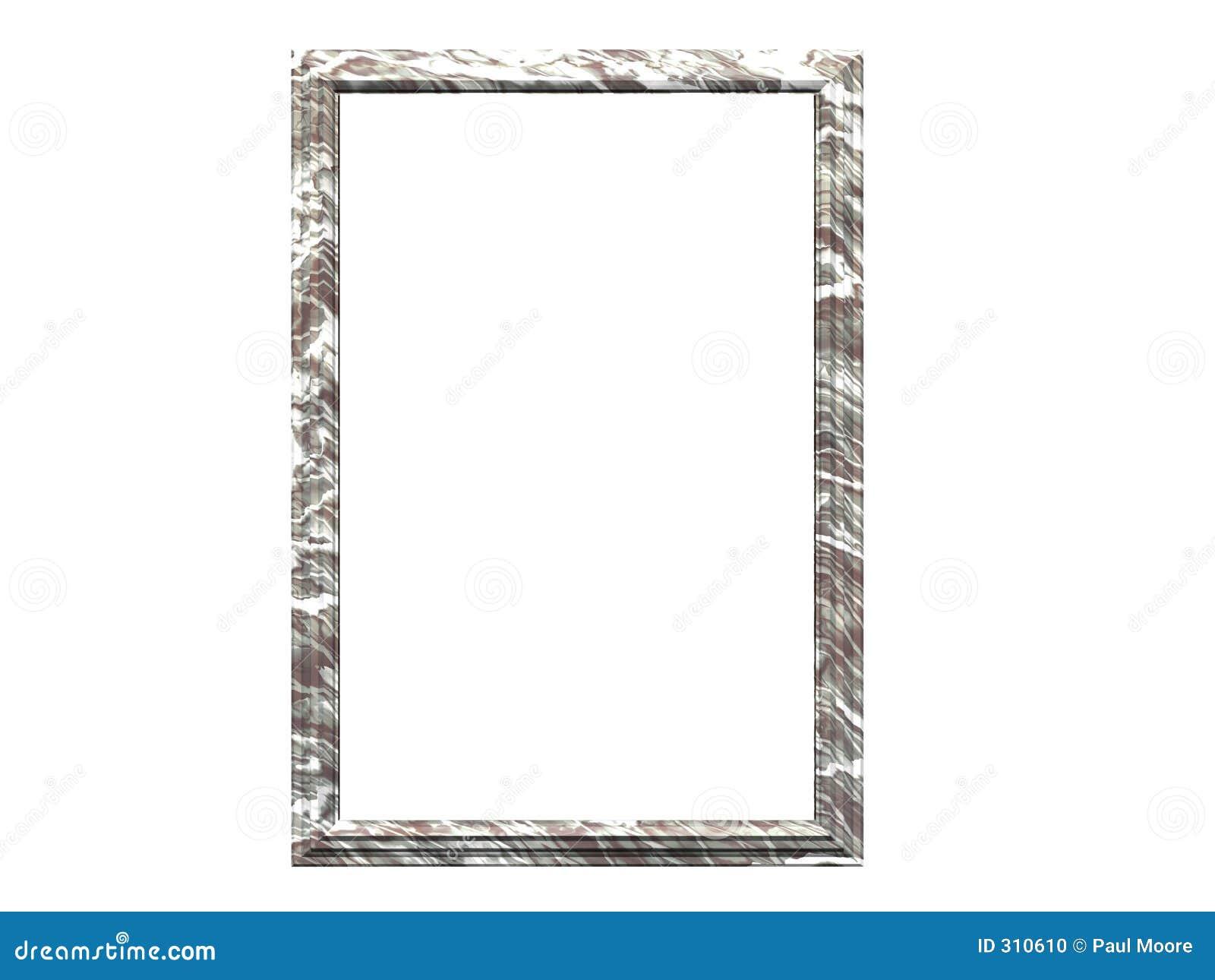 Marmurowy ramowy white