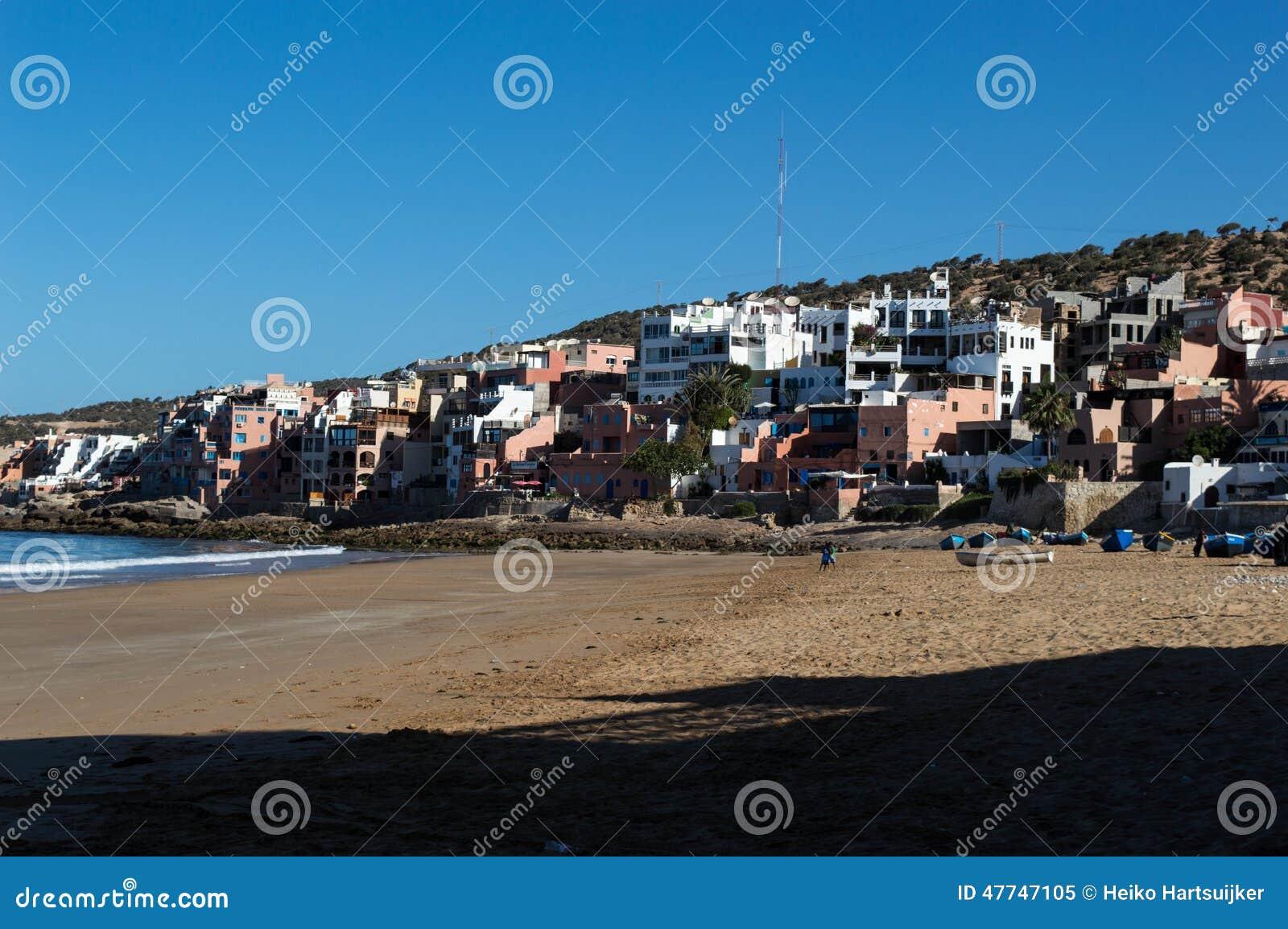 Maroc wioska przy plażą