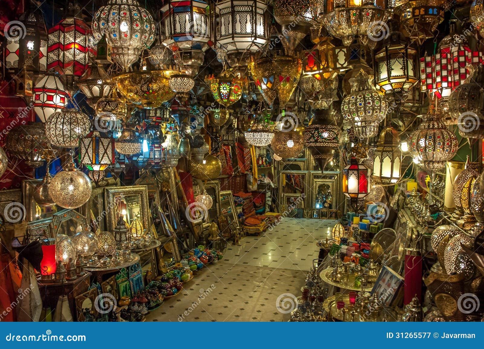 Marockansk Antik Lampa Royaltyfri Fotografi Bild 31265577