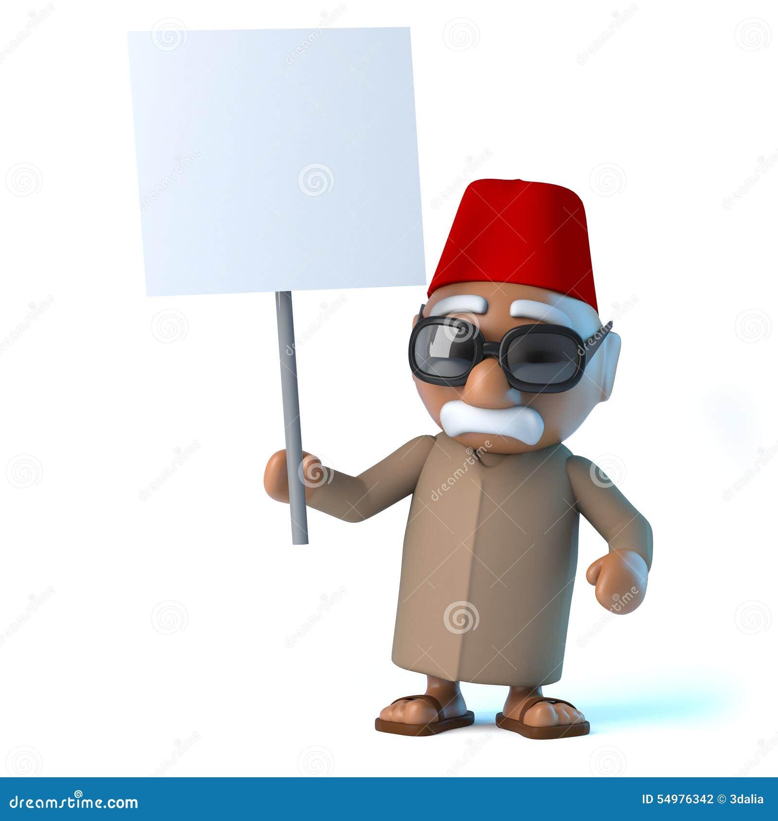 Marockanskt innehav 3d ett tomt plakat