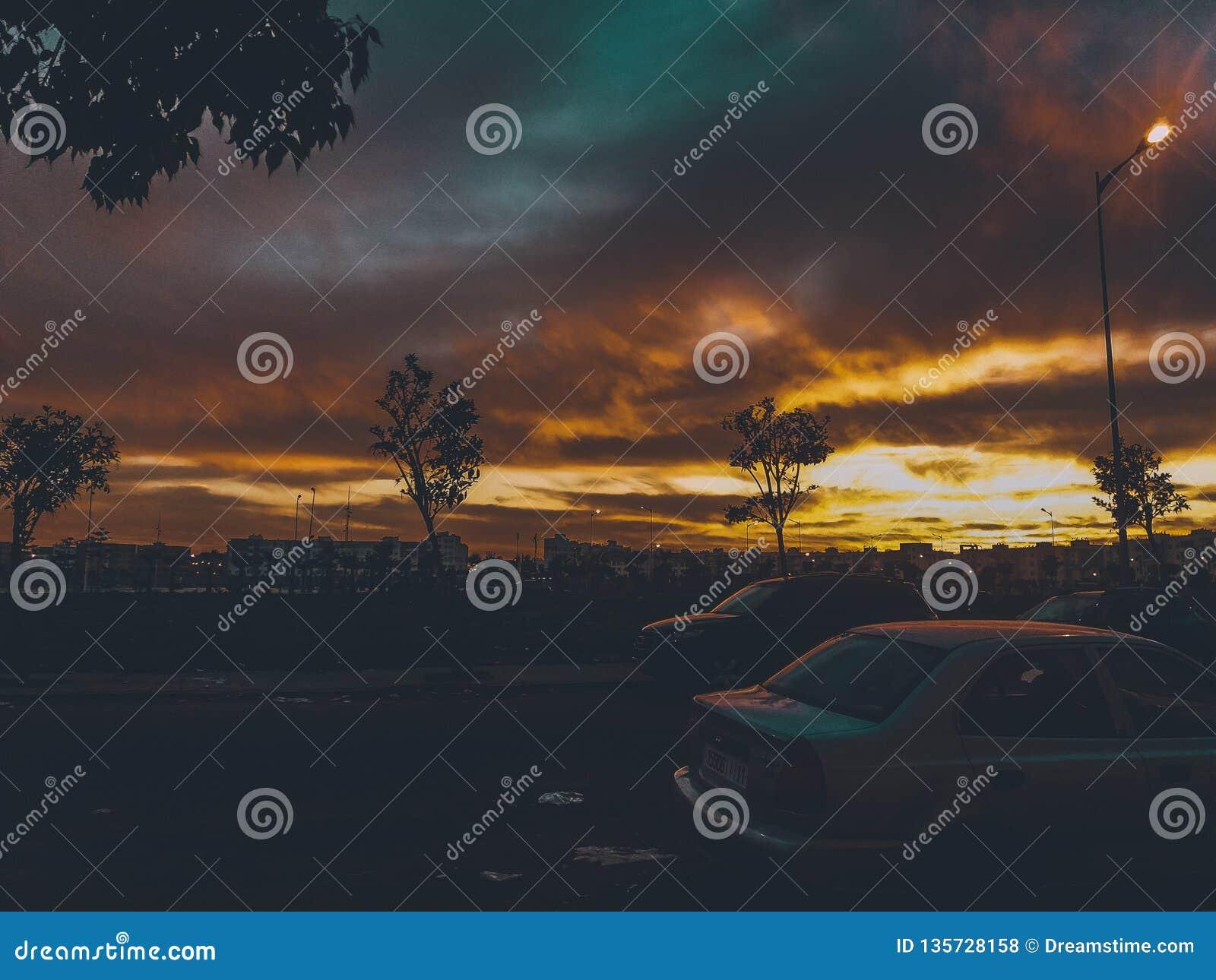 Marocko magisk solnedgång