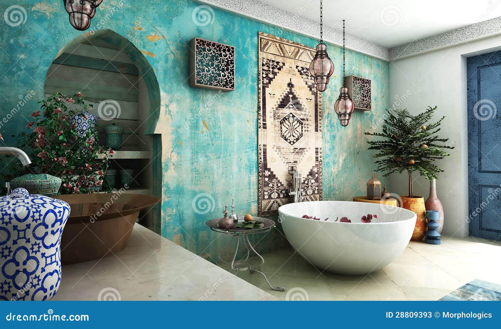 Marokanska Lazienka Obraz Stock Obraz Zlozonej Z Ceramiczny 28809393