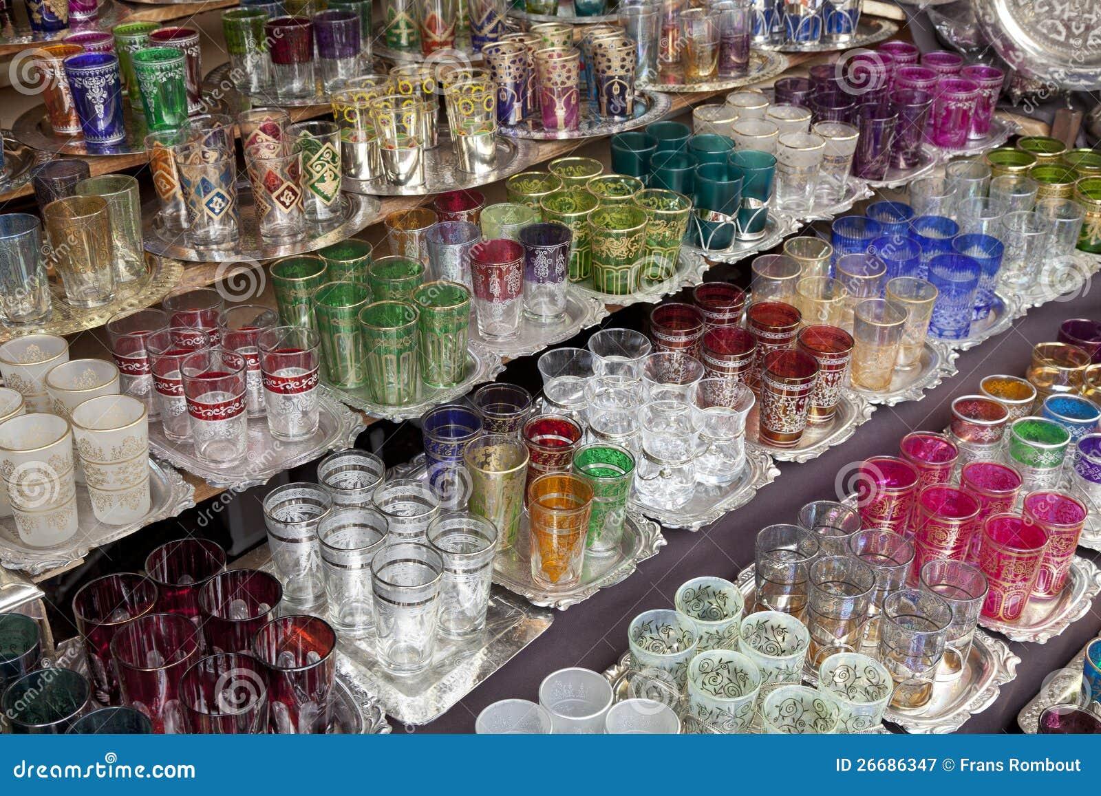 Marokkaans glaswerk voor verkoop royalty vrije stock fotografie beeld 26686347 - Marokkaans ajoure teken ...