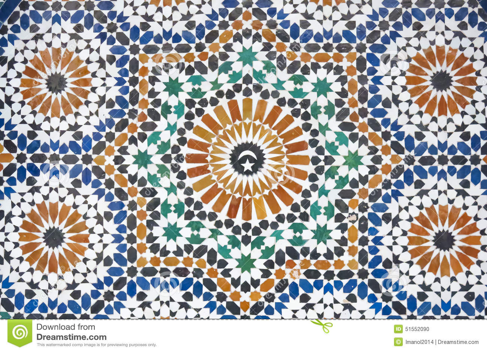 Verbazingwekkend Marokkaanse Mozaïek Betegelde Decoratie Stock Foto - Afbeelding WP-62