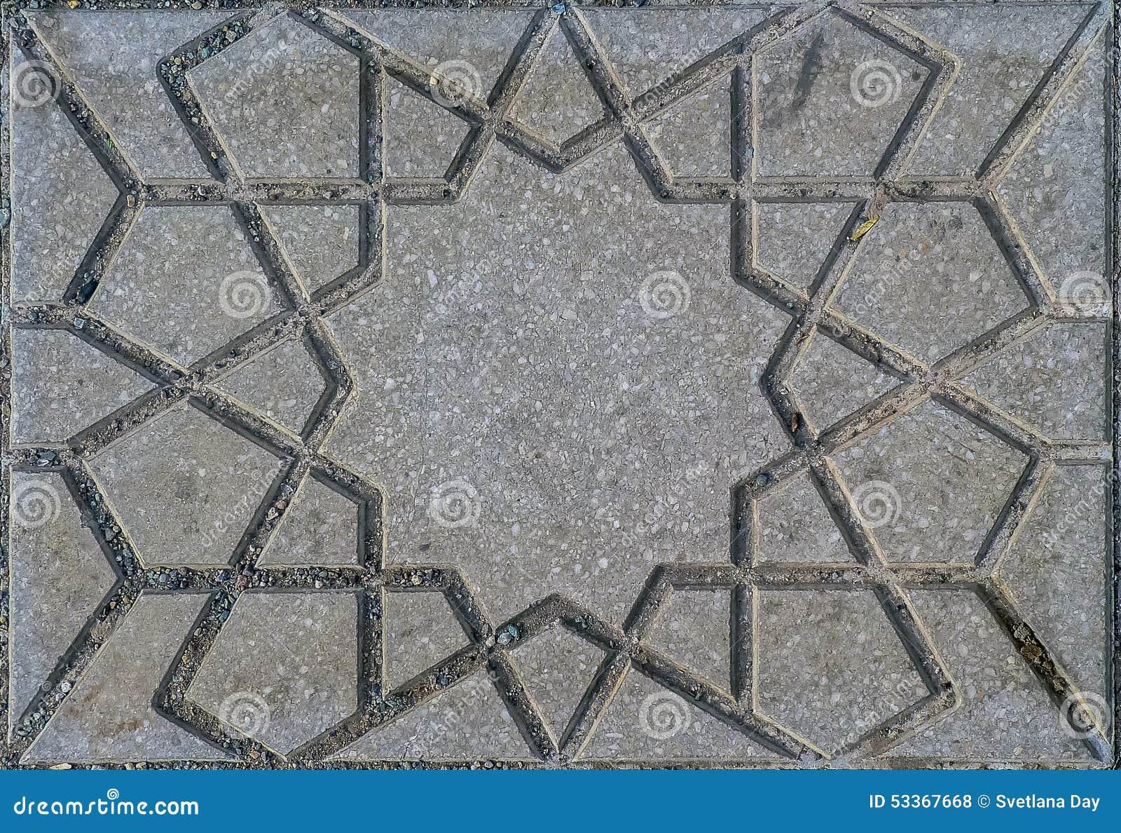 Marokkaanse straattegel stock foto afbeelding bestaande uit