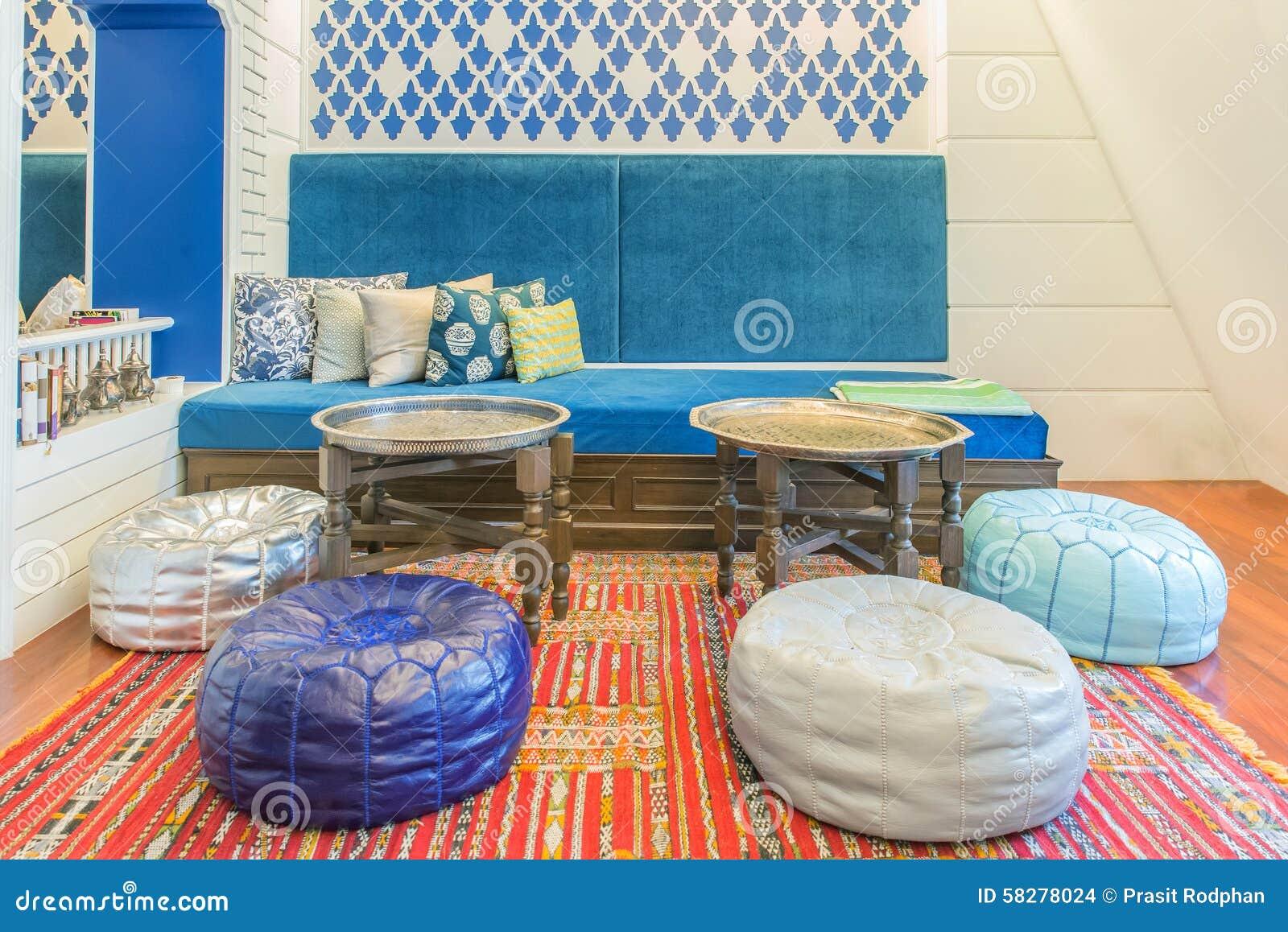 marokkanische art im wohnzimmer stockfoto - bild: 58278024, Wohnzimmer