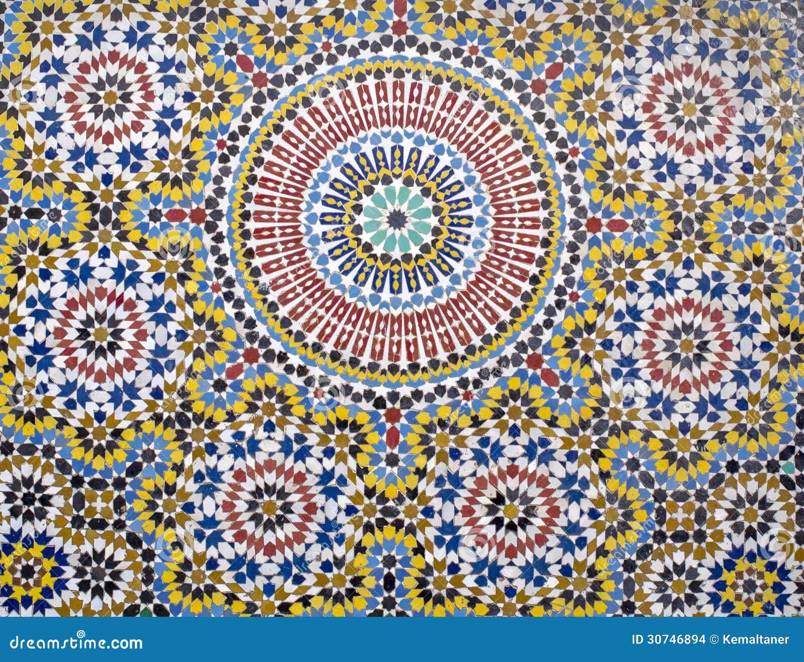 Marokkanische fliesen stockfoto bild von schicht for Marokkanische fliesen