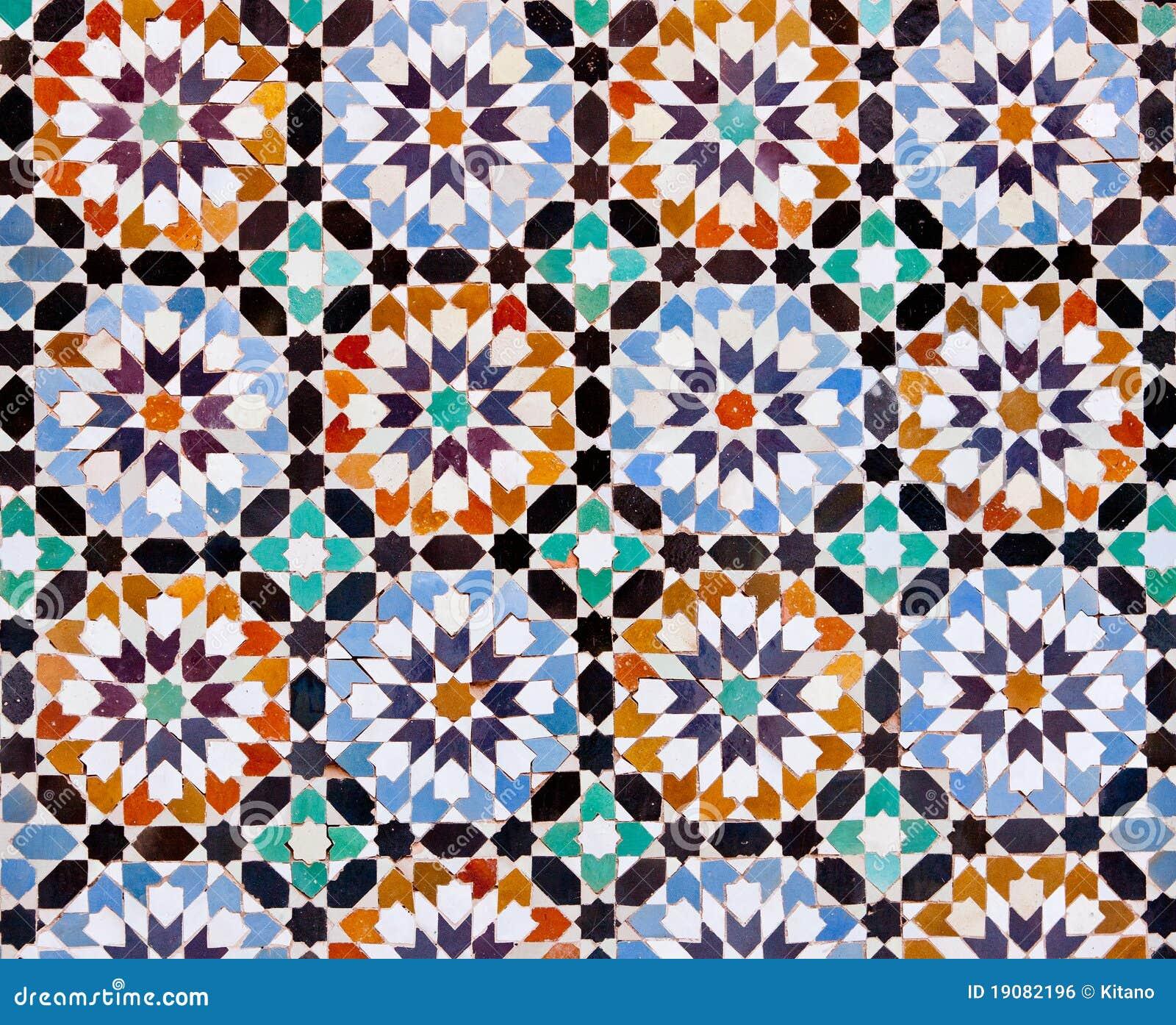 Marokkanische Fliesen In Marrakesch Lizenzfreies Stockbild - Bild ...
