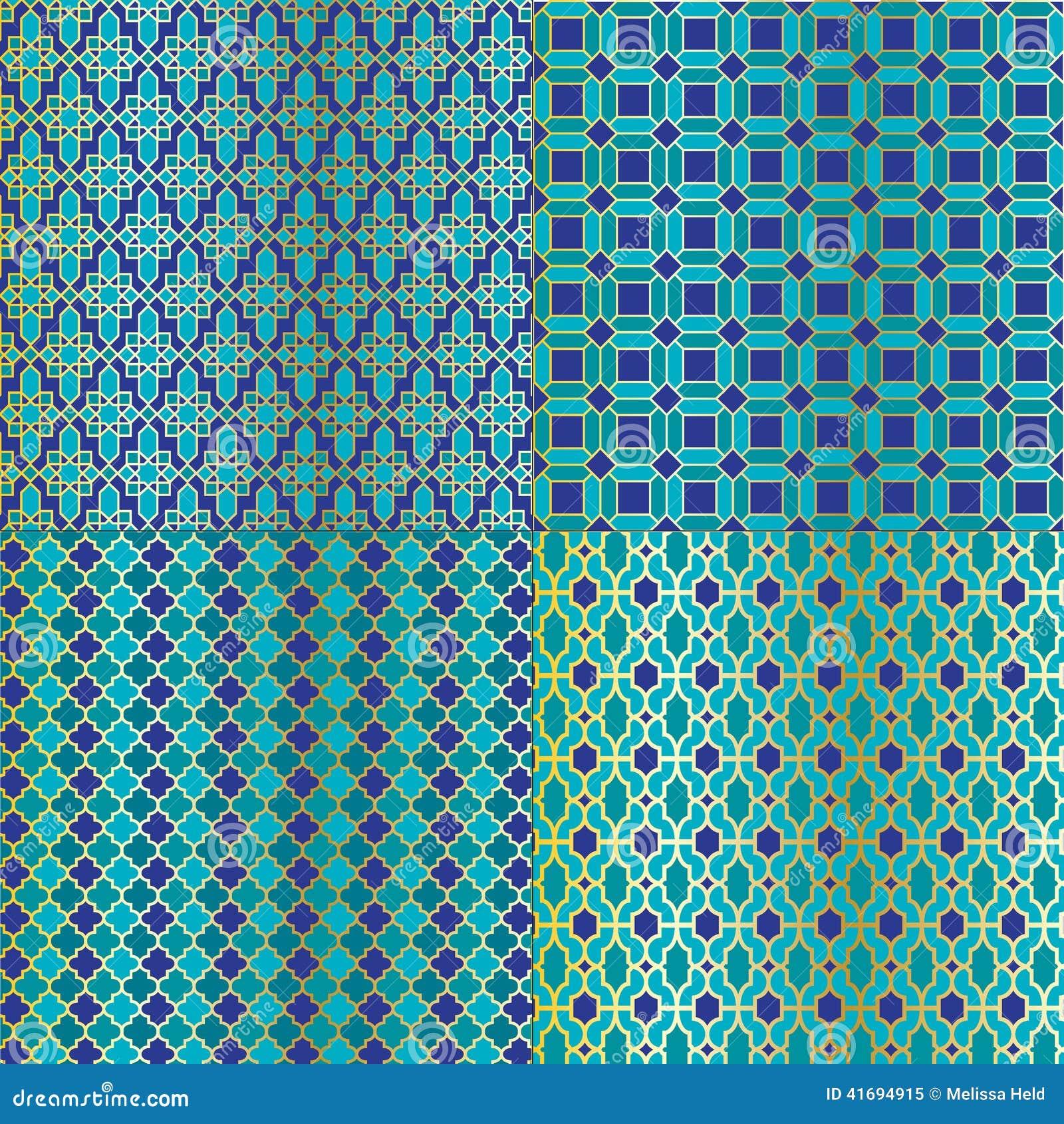 Marokkanische Fliesen Muster Vektor Abbildung Illustration Von