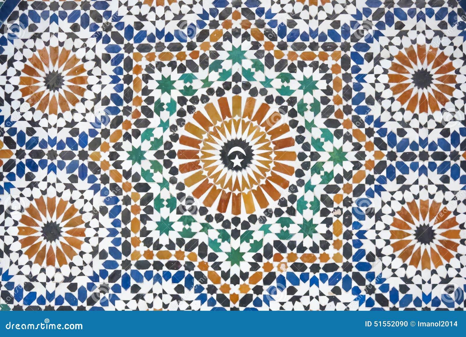 Marokkanisches mosaik deckte dekoration mit ziegeln - Dekoration mosaik ...