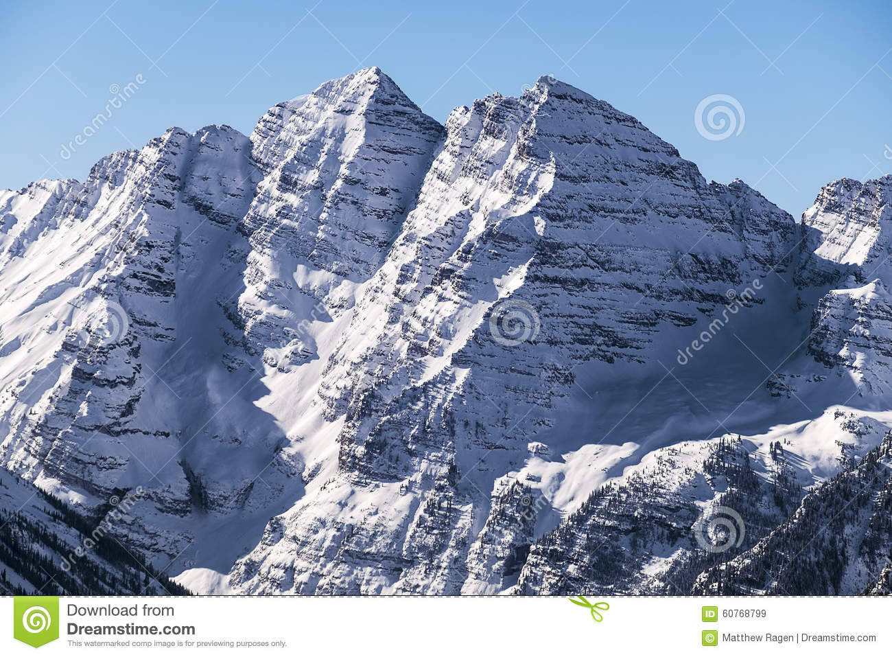Maroon Bells From Aspen Highlands Stock Image Image Of