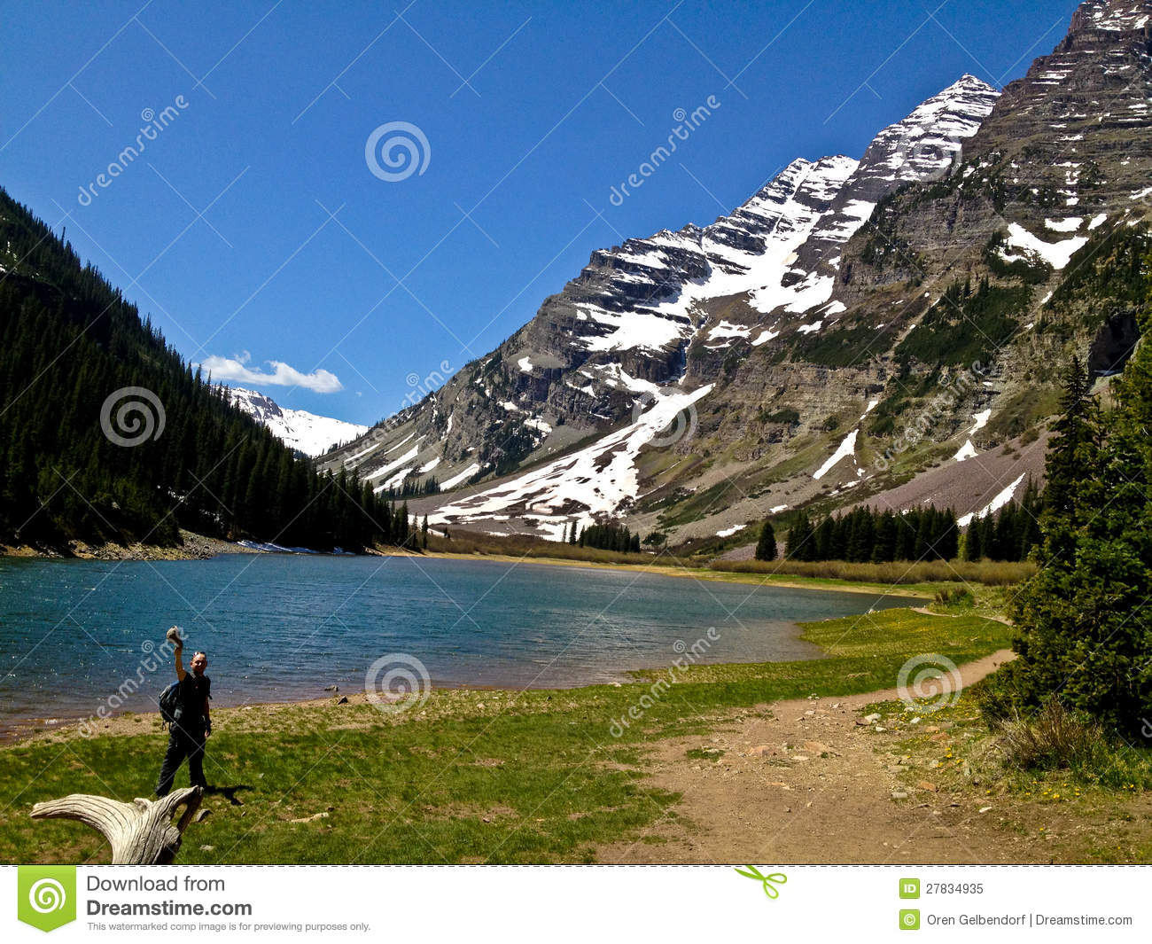 Maroon Bells Hike Stock Image Image Of Hike Forest 27834935