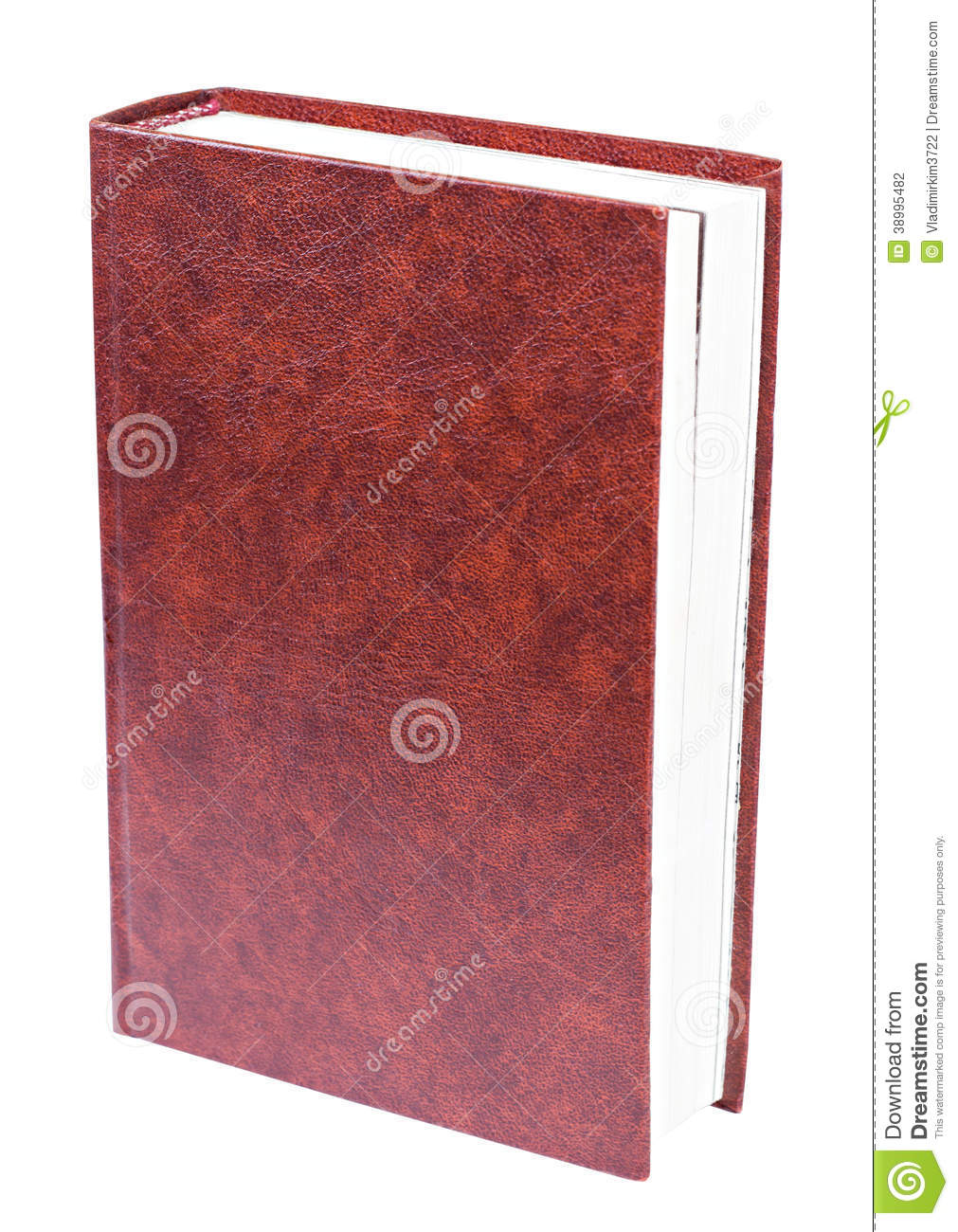 Book Cover Design Isolated Over Colorful Background : Maroon book standing isolated stock photo image