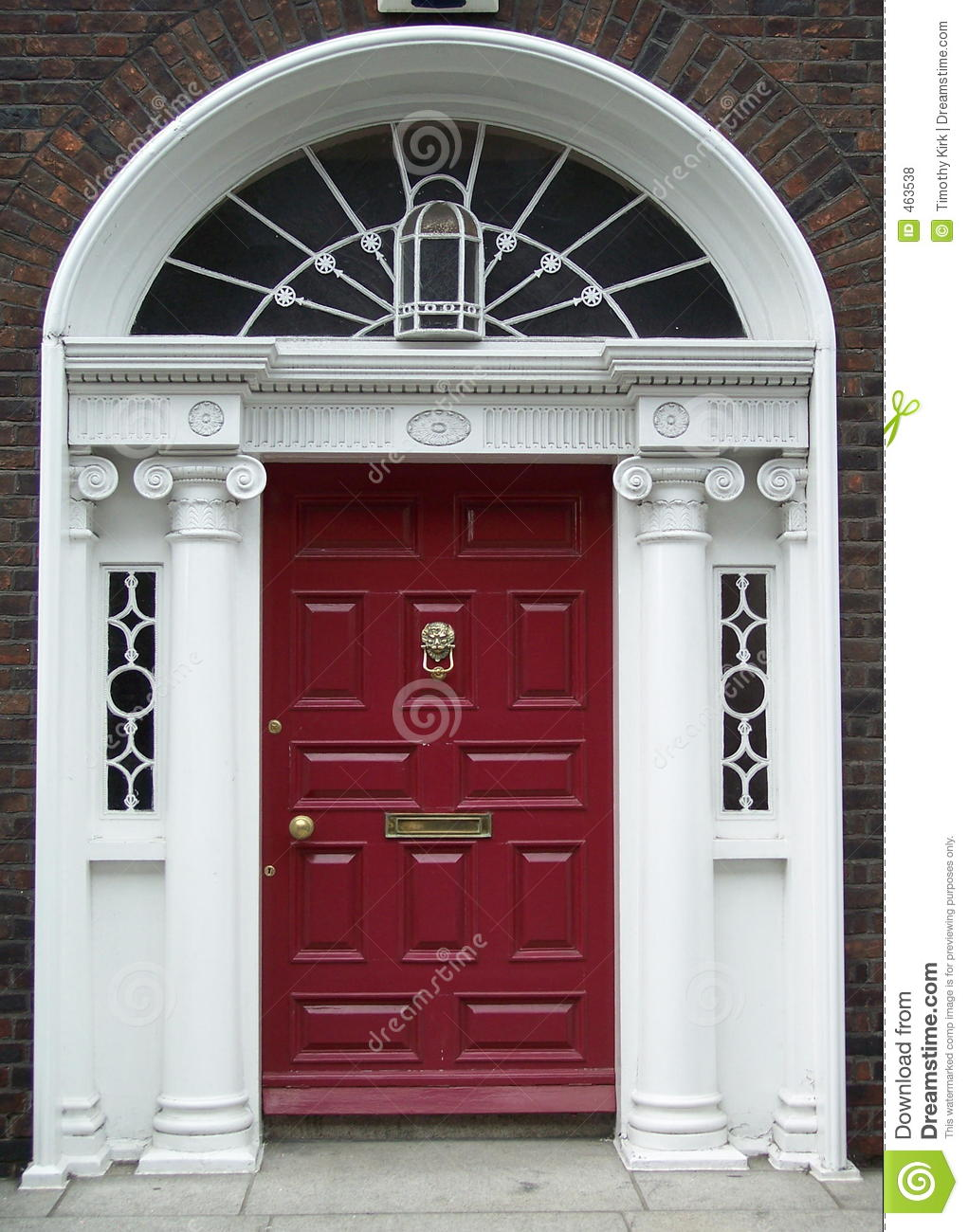 Maroon Dublin Door & Maroon Dublin Door Royalty Free Stock Photos - Image: 463538 Pezcame.Com