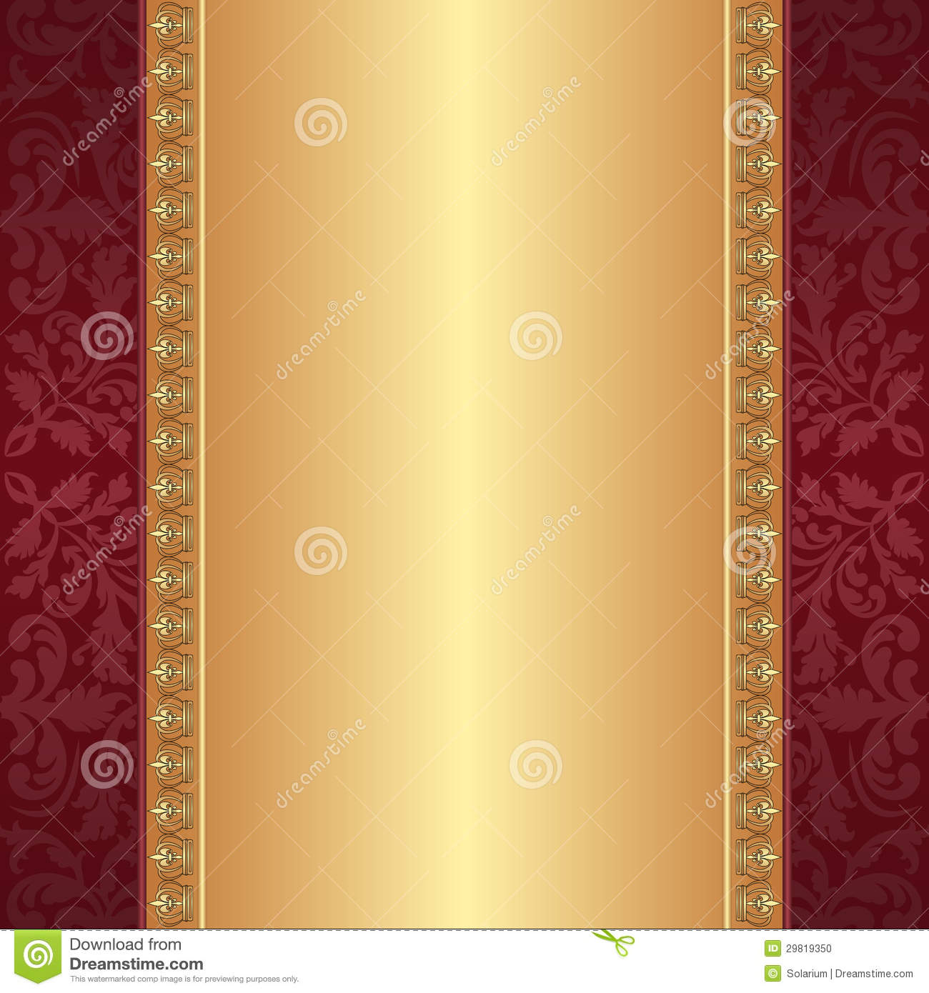 Maroon And Gold Background Stock Photo Image 29819350