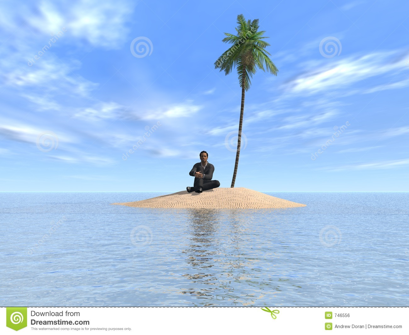 alone on a desert island A real-life robinson crusoe who has spent 20 years living on a desert island  says he's glad he doesn't have to worry about terrorist attacks.