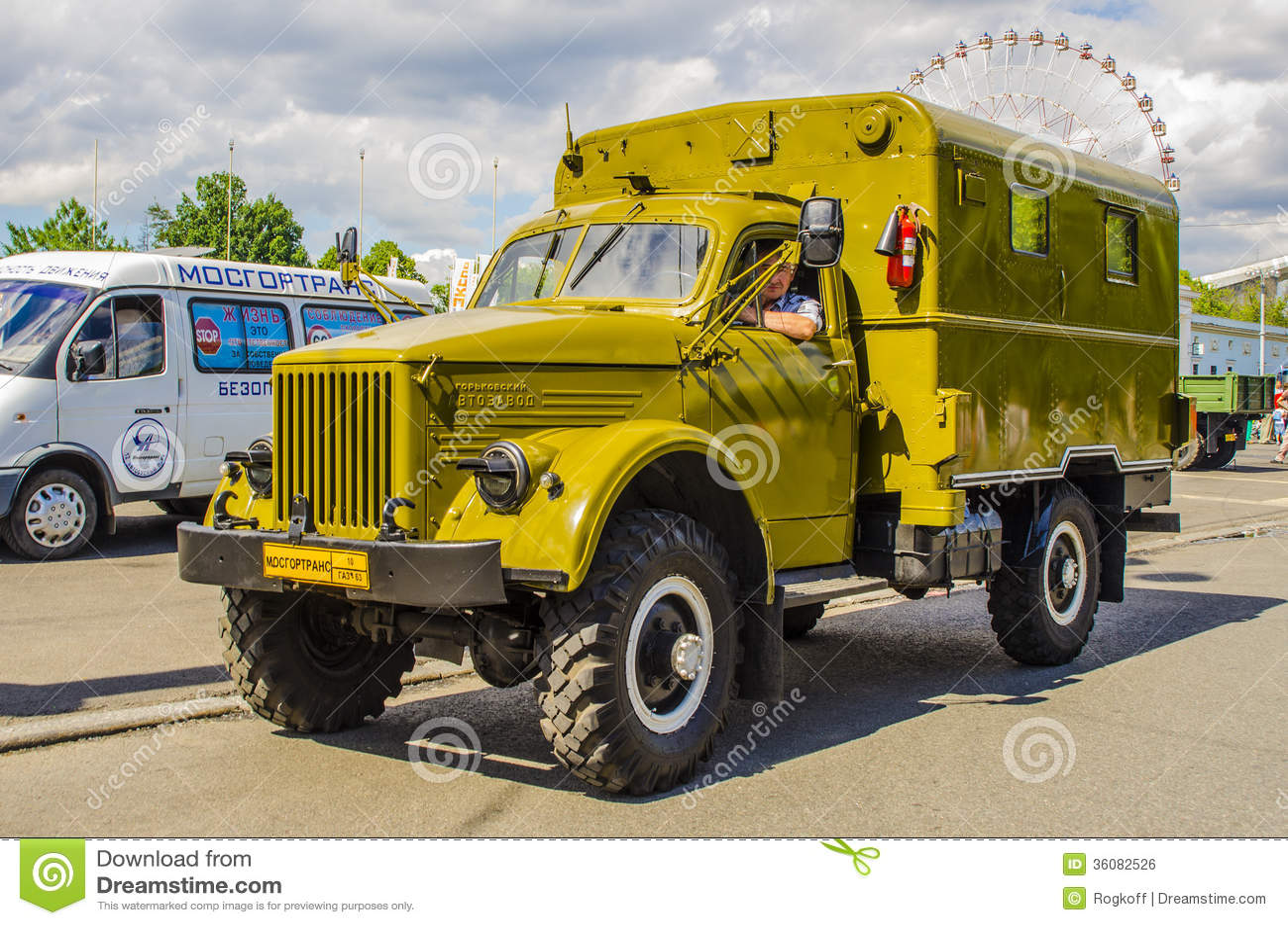 marque russe sovi tique rare gaz de camion de guerre photo ditorial. Black Bedroom Furniture Sets. Home Design Ideas