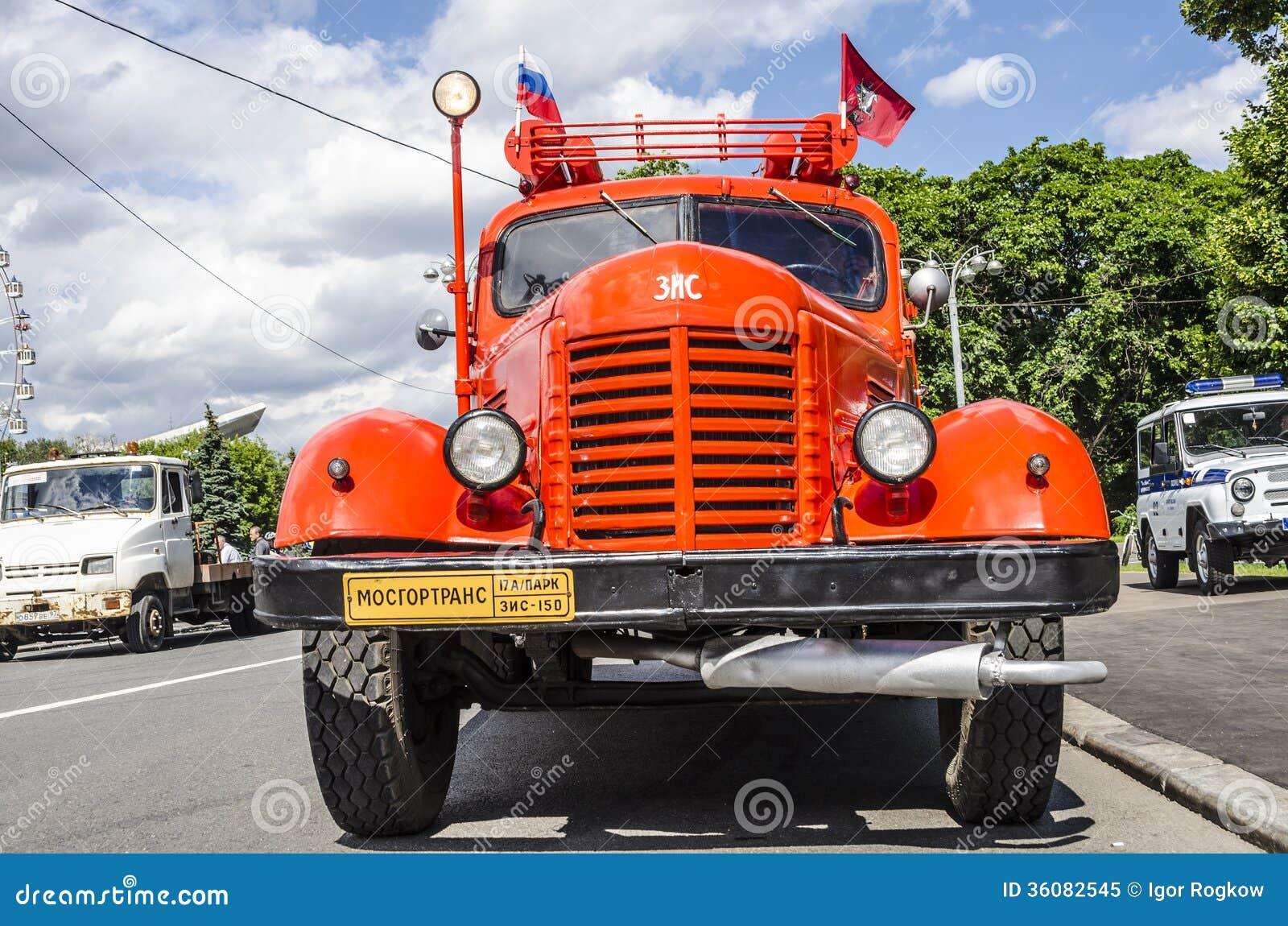marque russe sovi tique rare vms de camion de pompiers image ditorial image 36082545. Black Bedroom Furniture Sets. Home Design Ideas