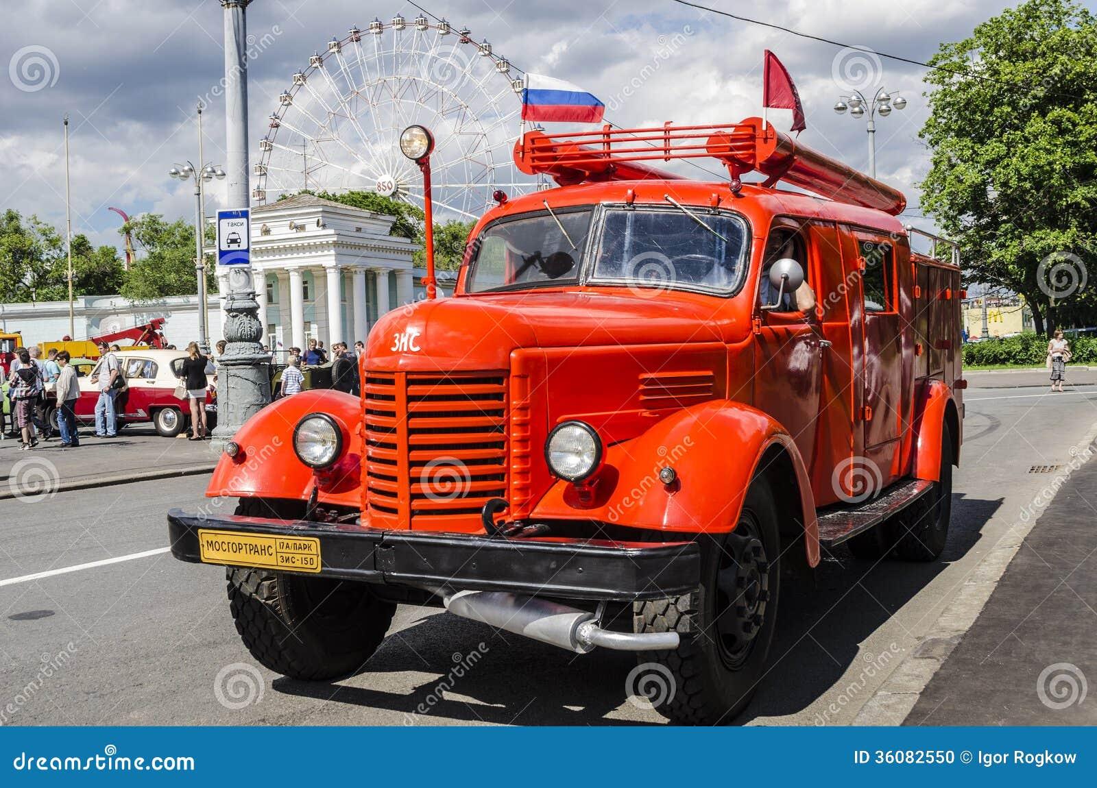 marque russe sovi tique rare vms de camion de pompiers image ditorial image du vieux urbain. Black Bedroom Furniture Sets. Home Design Ideas