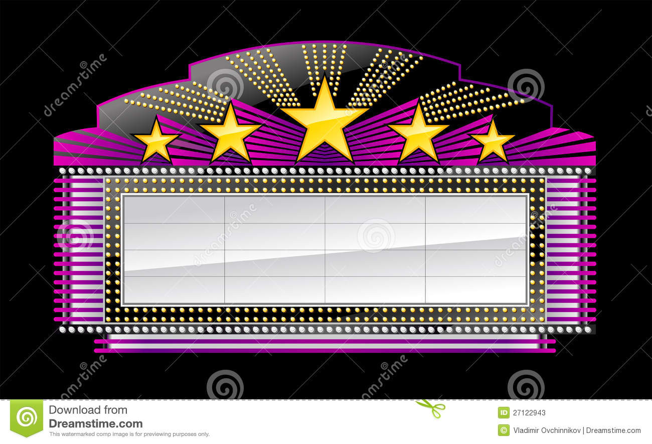 Broadway Lights Marquee Marquee banner black Stock