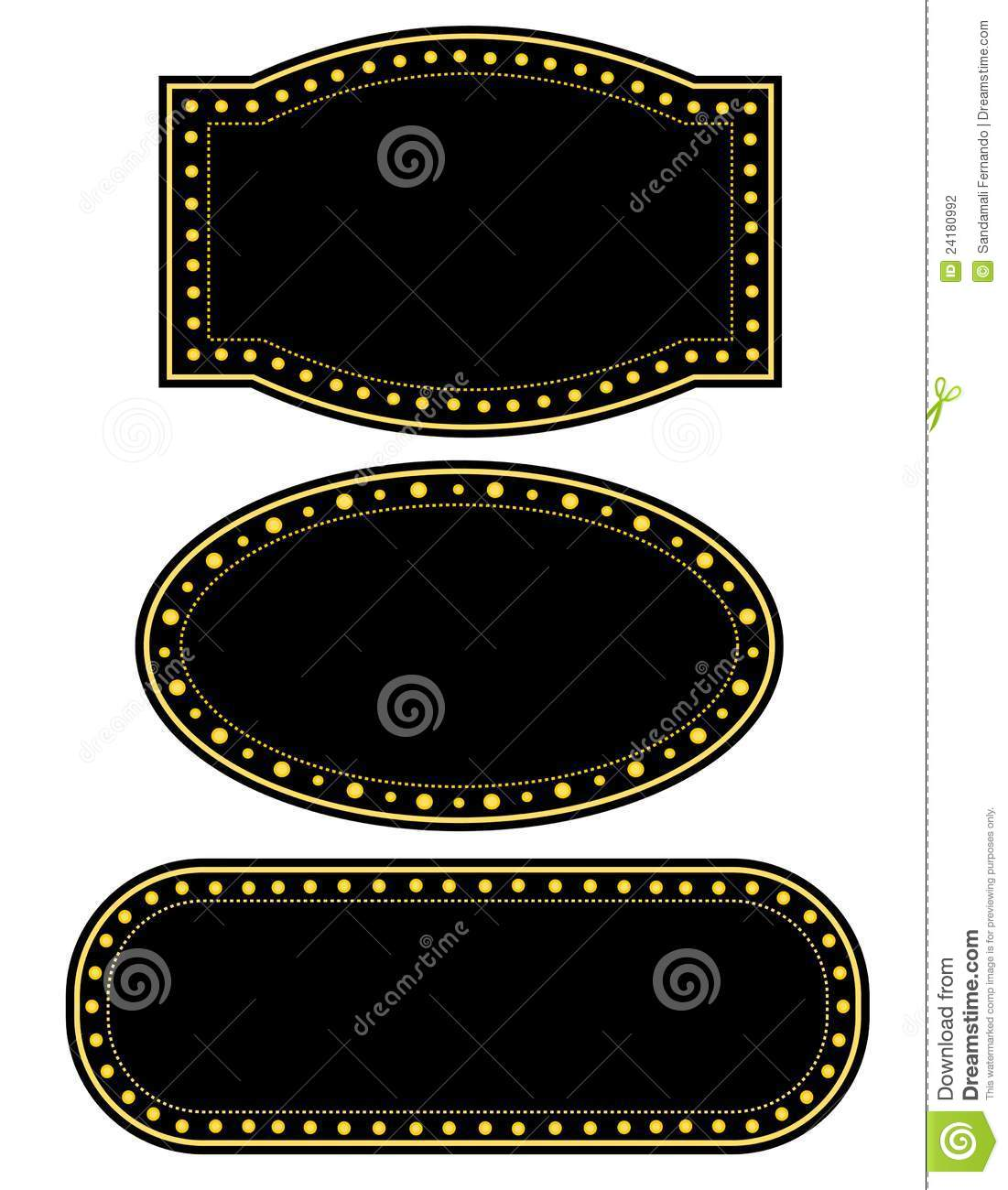 Movie Theater Border Clip Art Hollywood Lights Border
