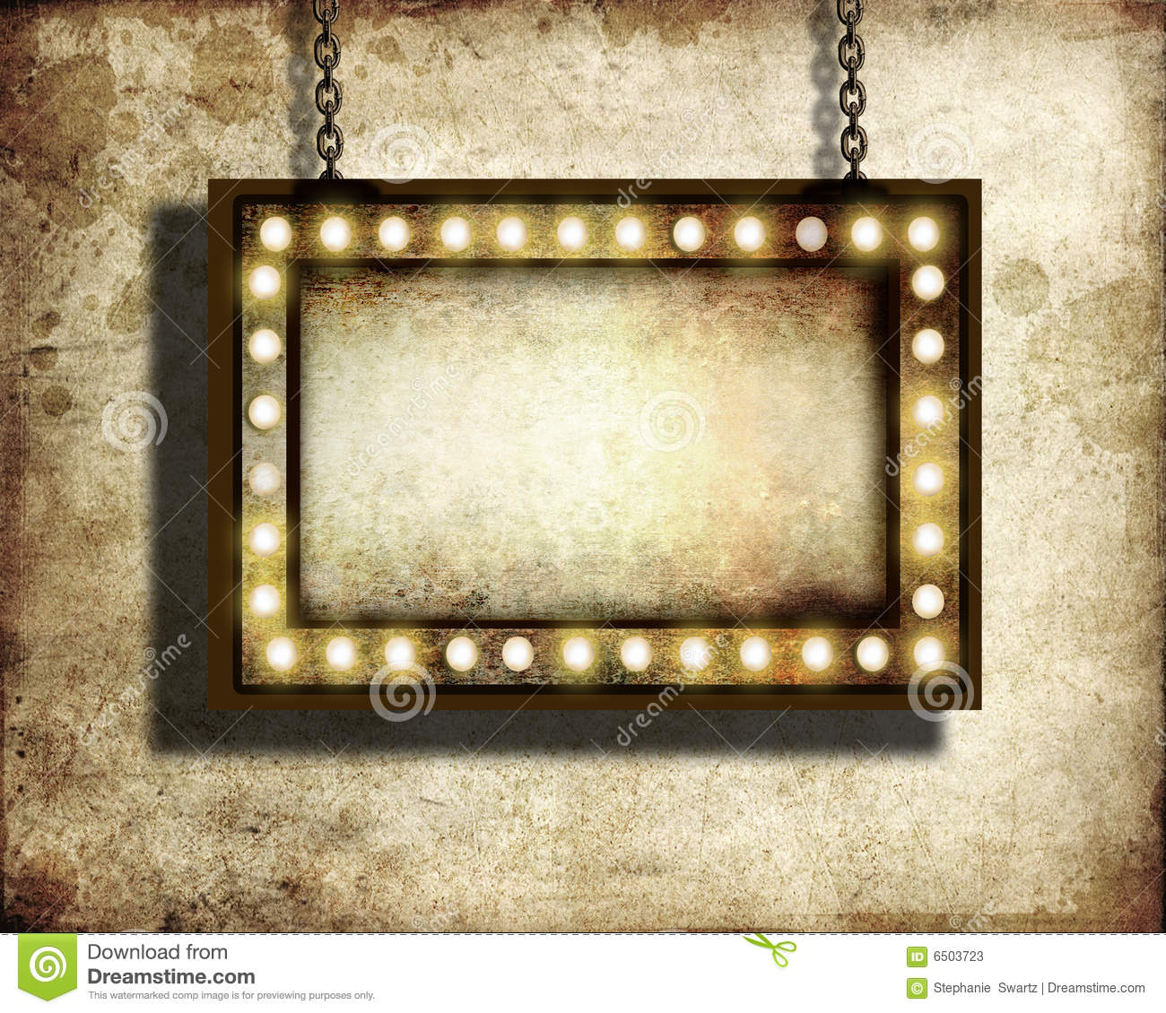 Broadway Lights Border Clipart Marquee lights Stock Photos