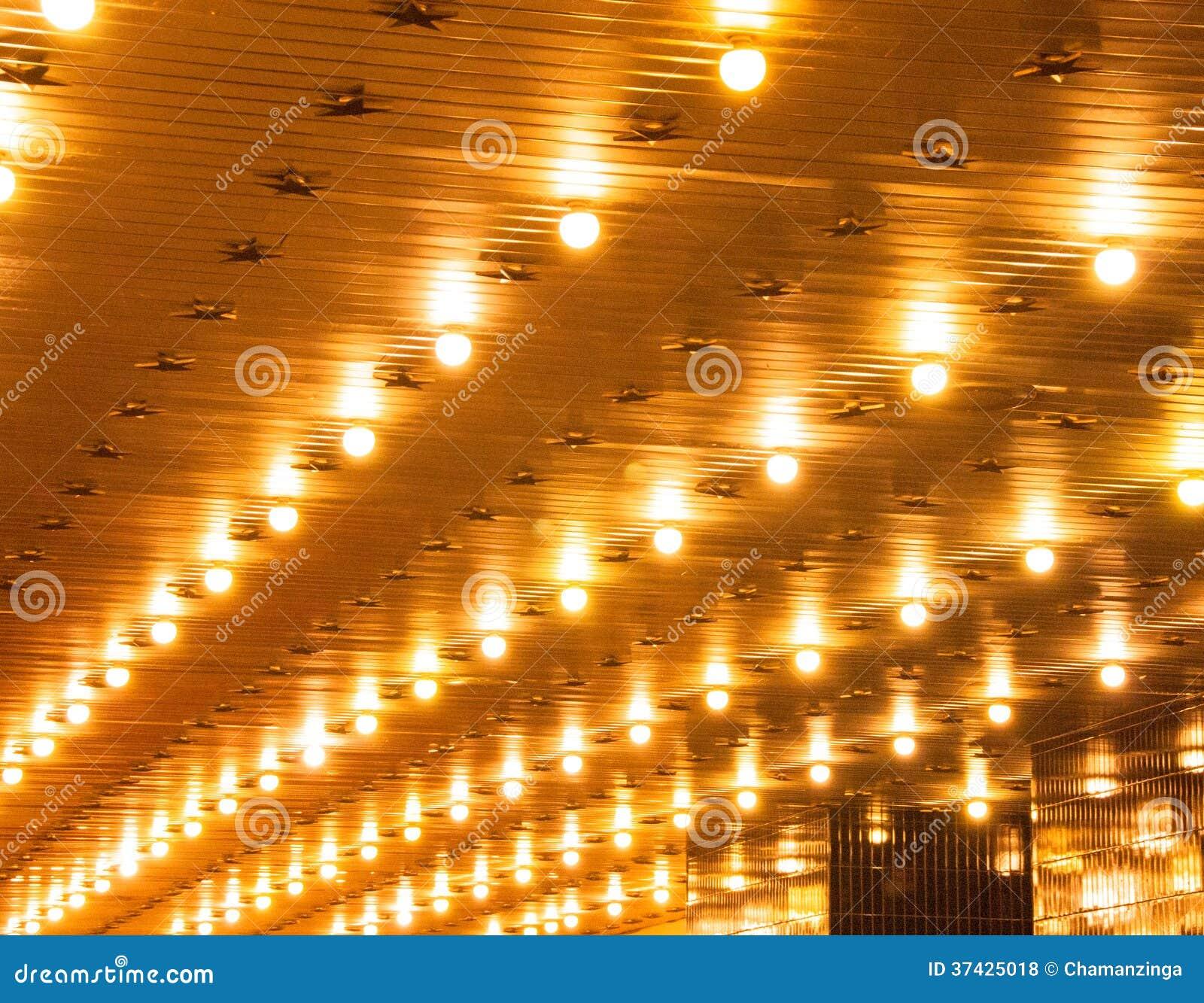 Theater Lights Background: Marquee Lights Stock Photo. Image Of Illumination, Black
