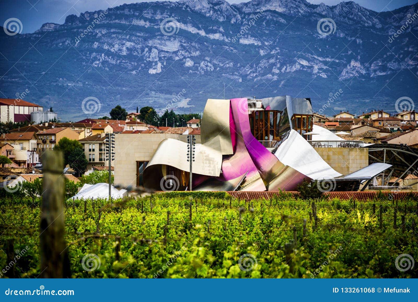 Bodega Winery Marques De Riscal Rioja Spain Stock Photo Image Of