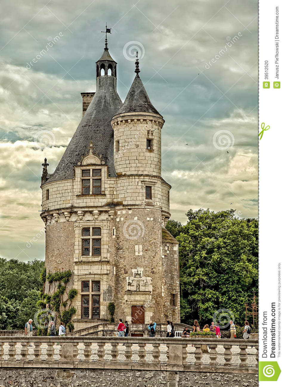 Marques Tower at the castle of Chenonceau in France