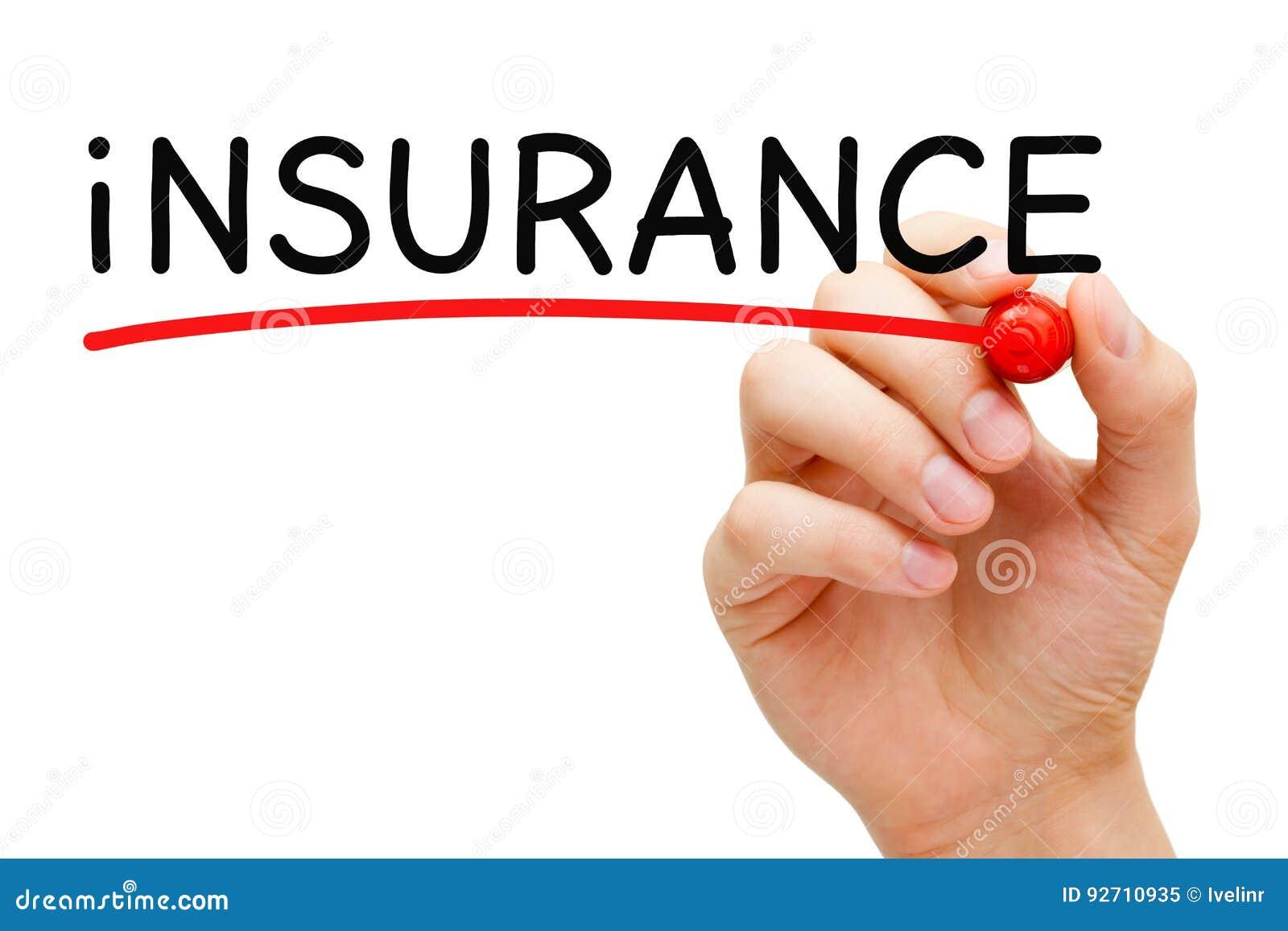 Marqueur de rouge d assurance