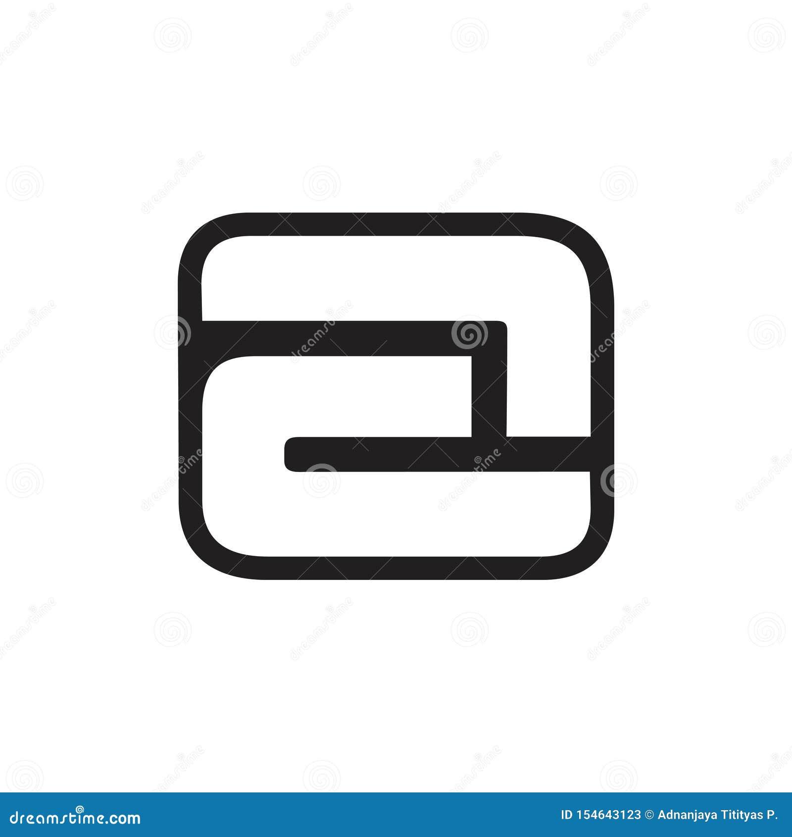 Marquez avec des lettres un vecteur négatif de logo de conception d espace
