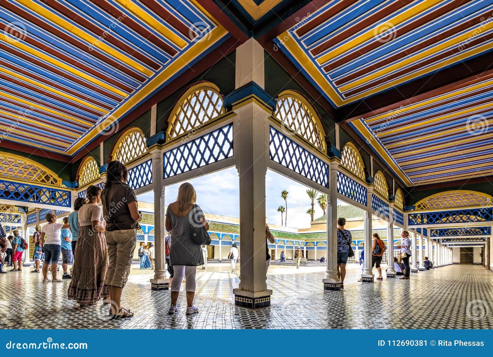 Marrakech, Maroko, 06th Bahia Listopadu 2016 pałac Marrakech podwórze