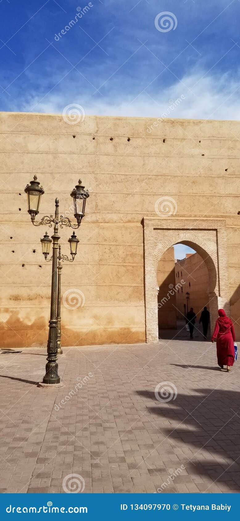 Marrakech medina vägg