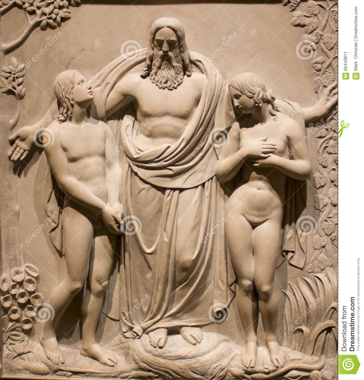 marriage of adam and eve stock photo image 66443811