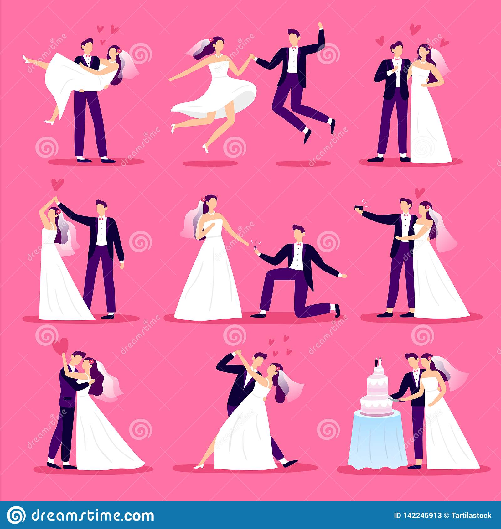 Marriage Couple. Just Married Couples, Wedding Dancing And ...