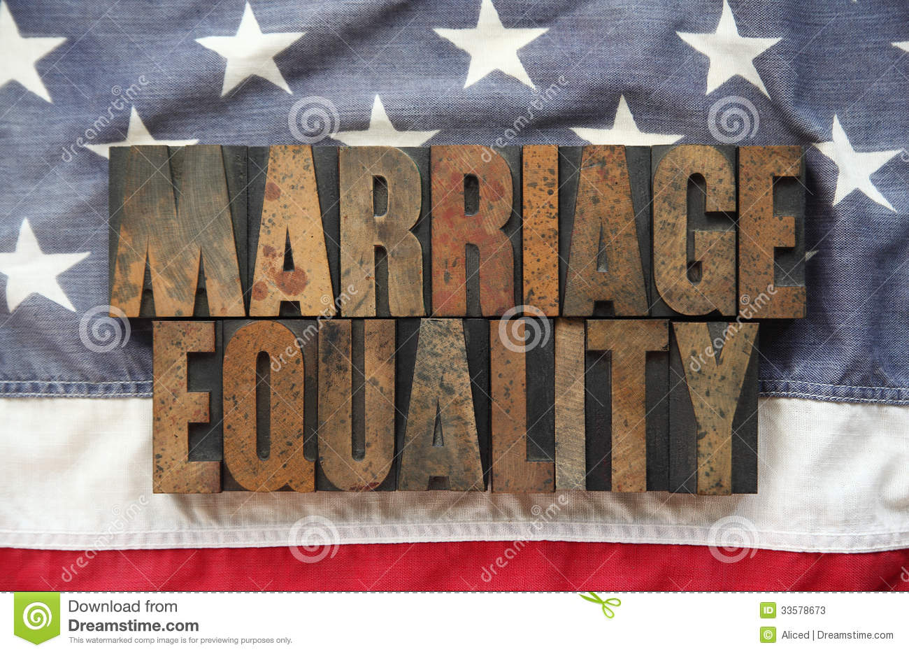 Marriage equality on old American flag