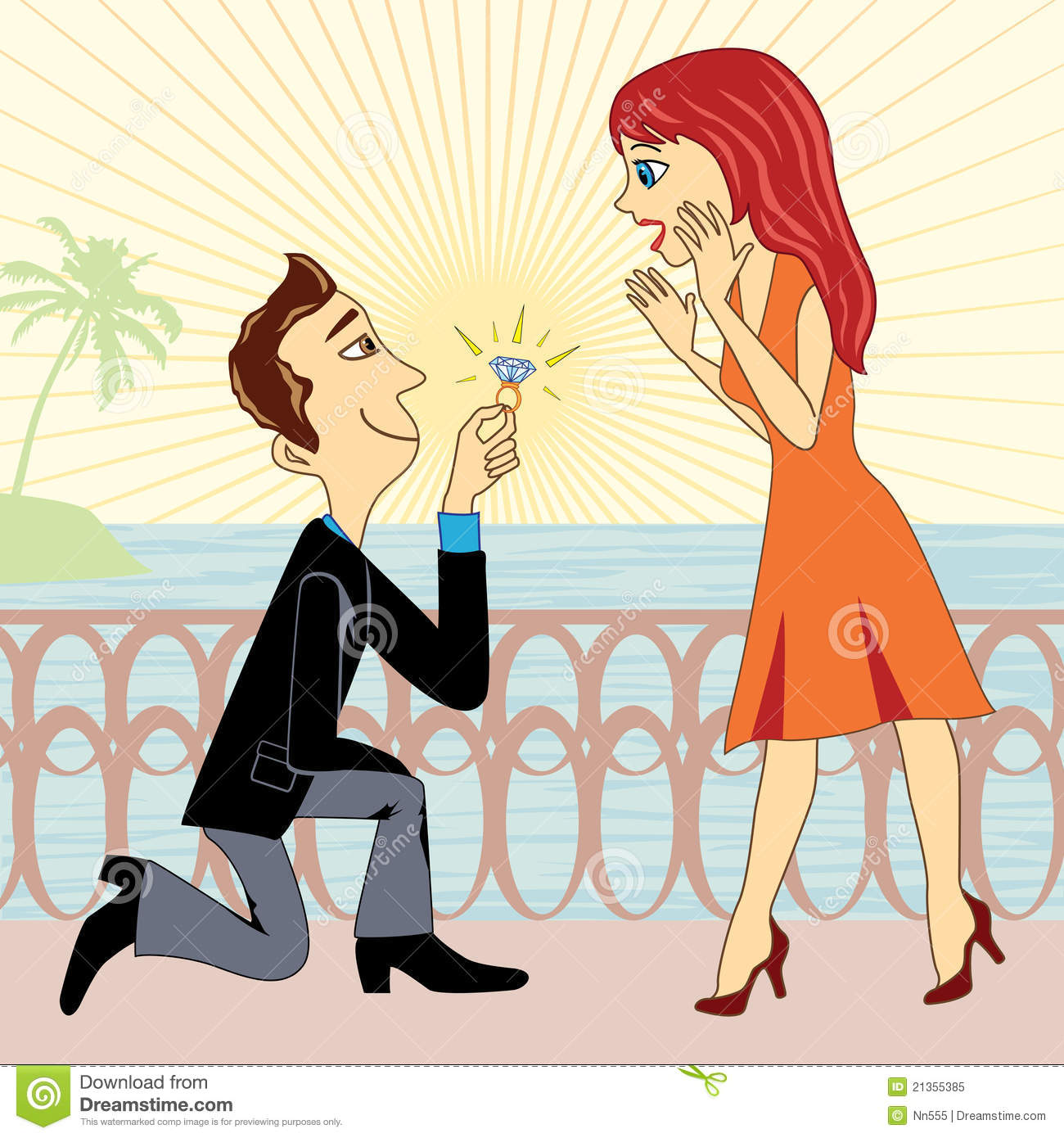 Marriage Proposal Royalty Free Stock Photo Image 21355385