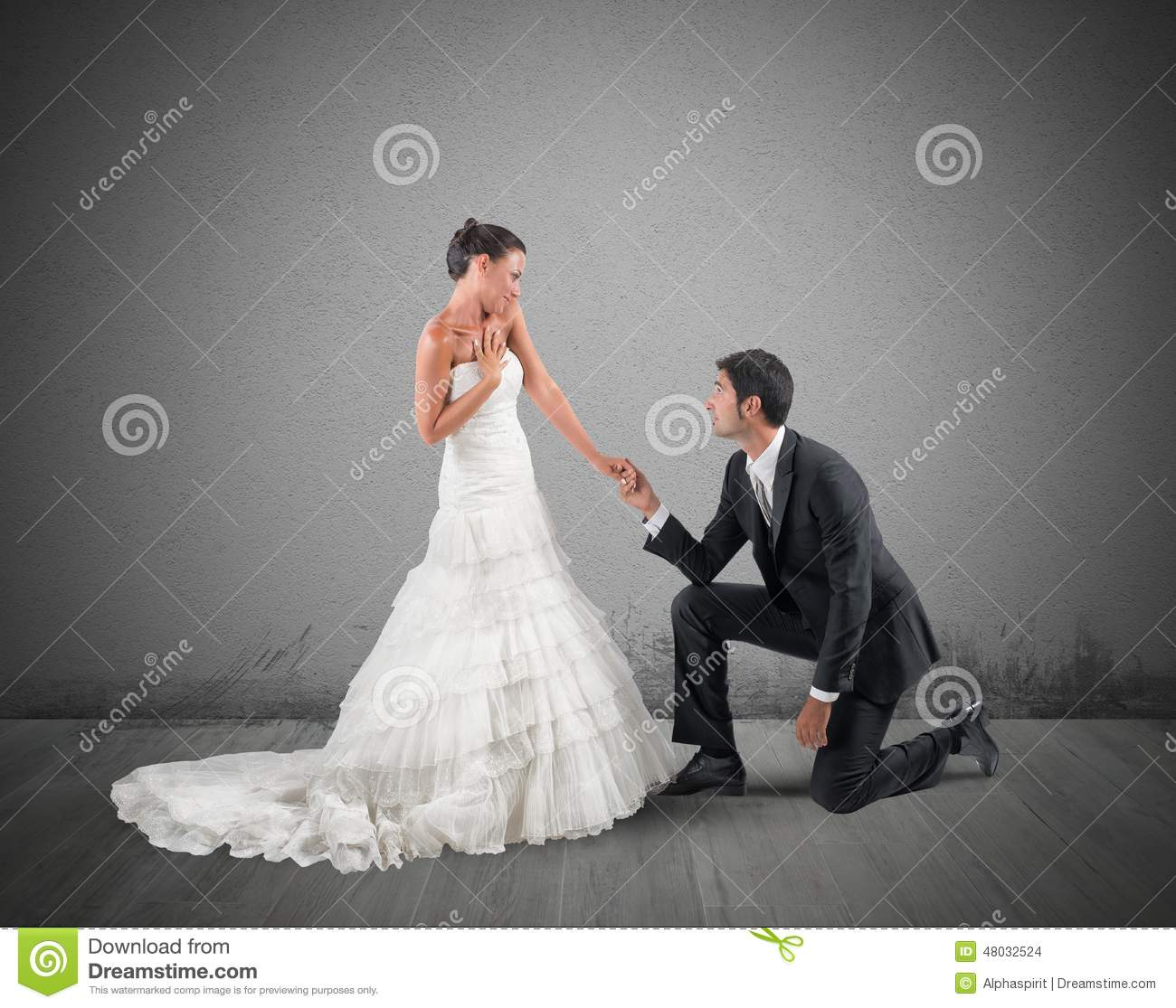 Romantic Marriage: Marriage Proposal Stock Photo