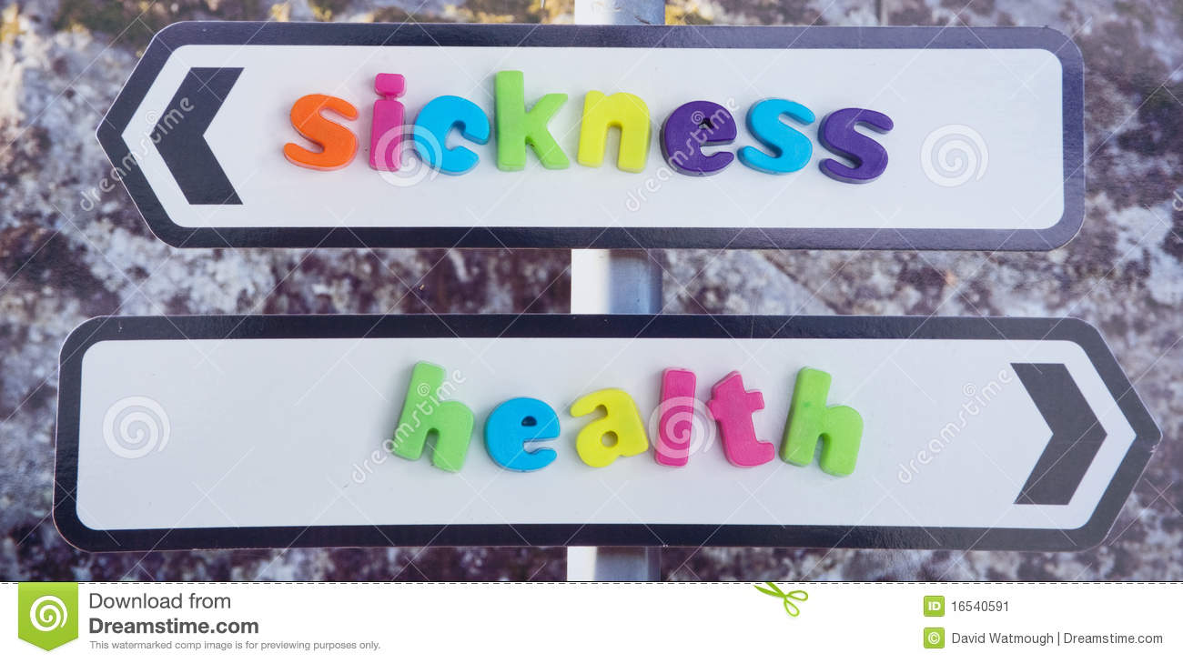 Marriage In Sickness And In Health Stock Image