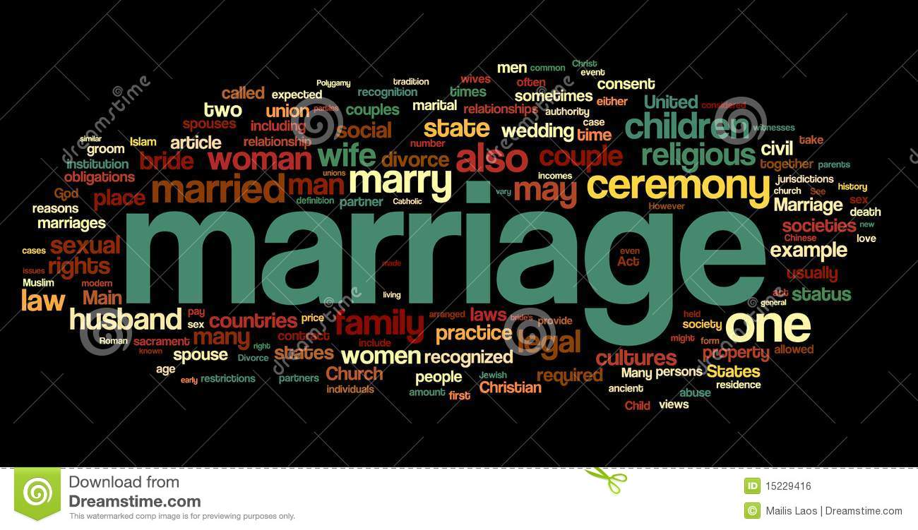 Marriage Word Cloud Royalty Free Stock Image - Image: 15229416